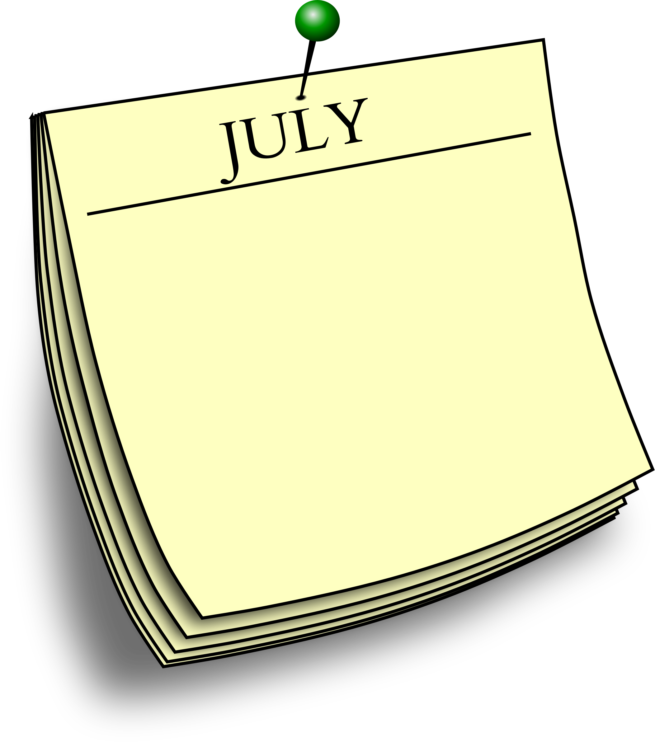 Monthly note - July by Firkin