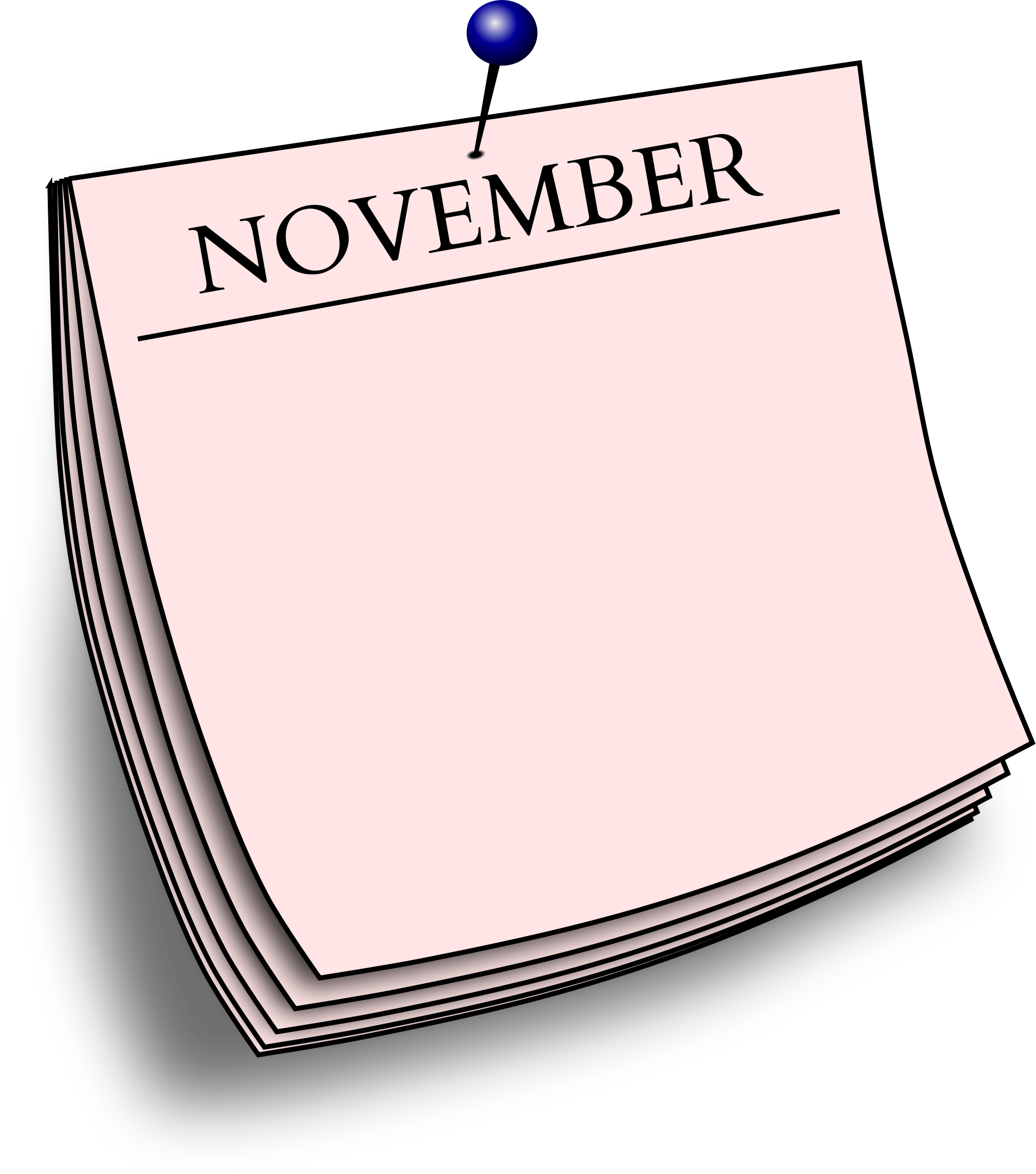 Monthly note - November by Firkin
