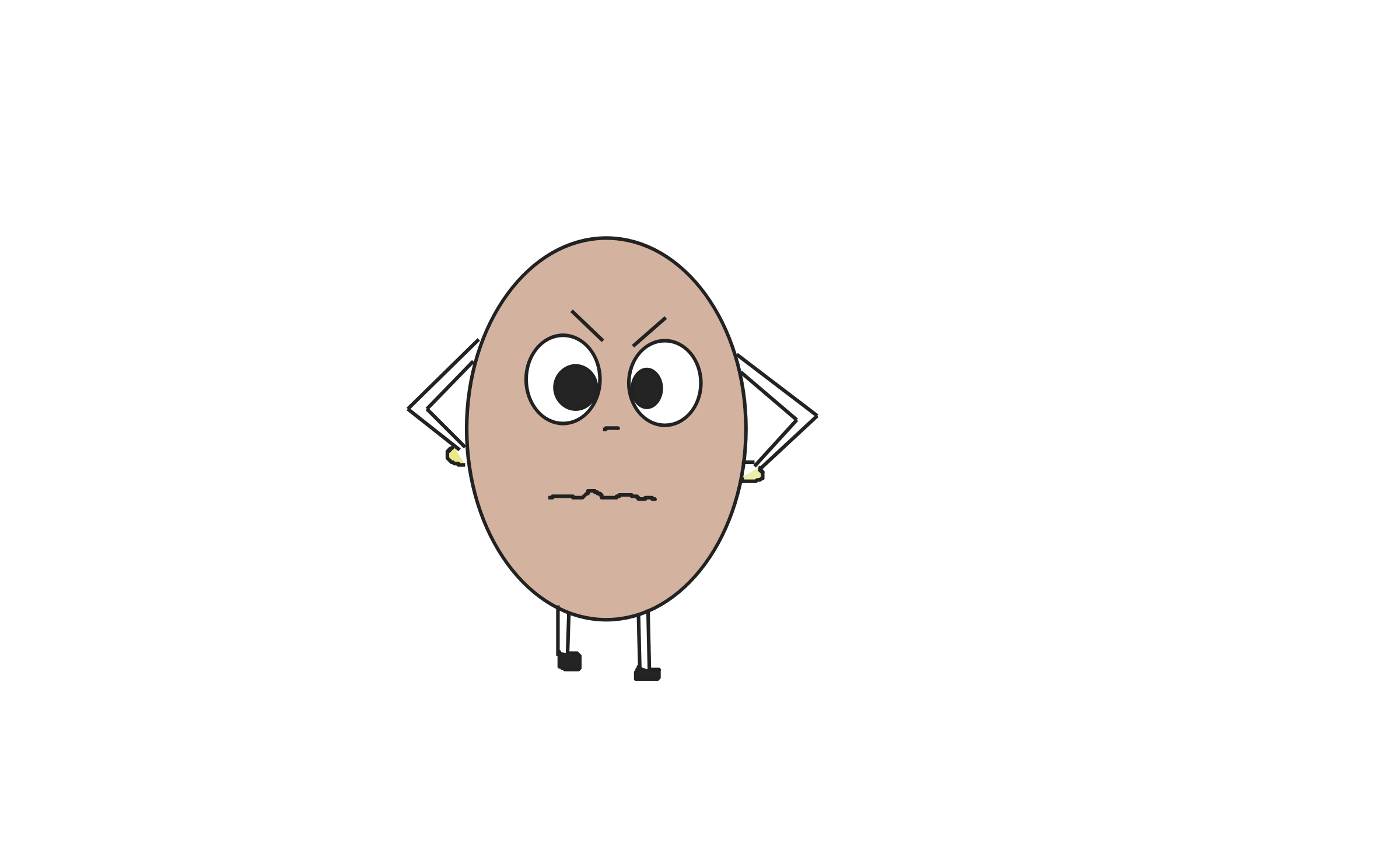 Angry Egg by DimpleMathew