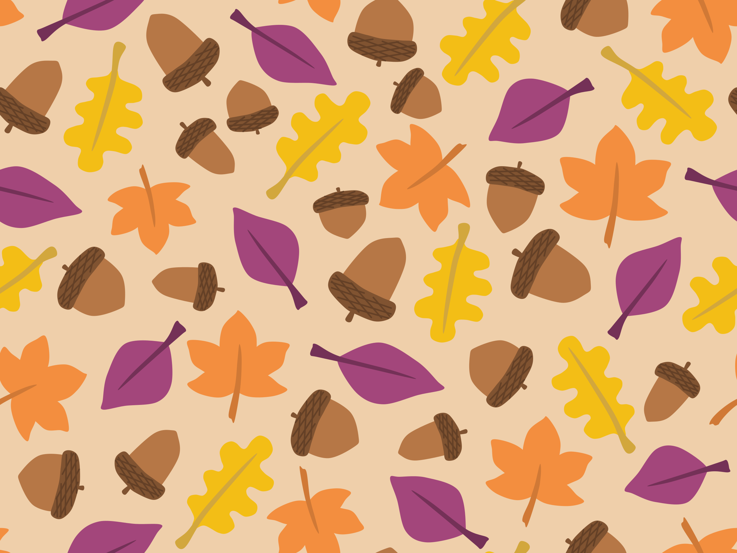 Seamless verson of Fall Pattern by lilychen1388