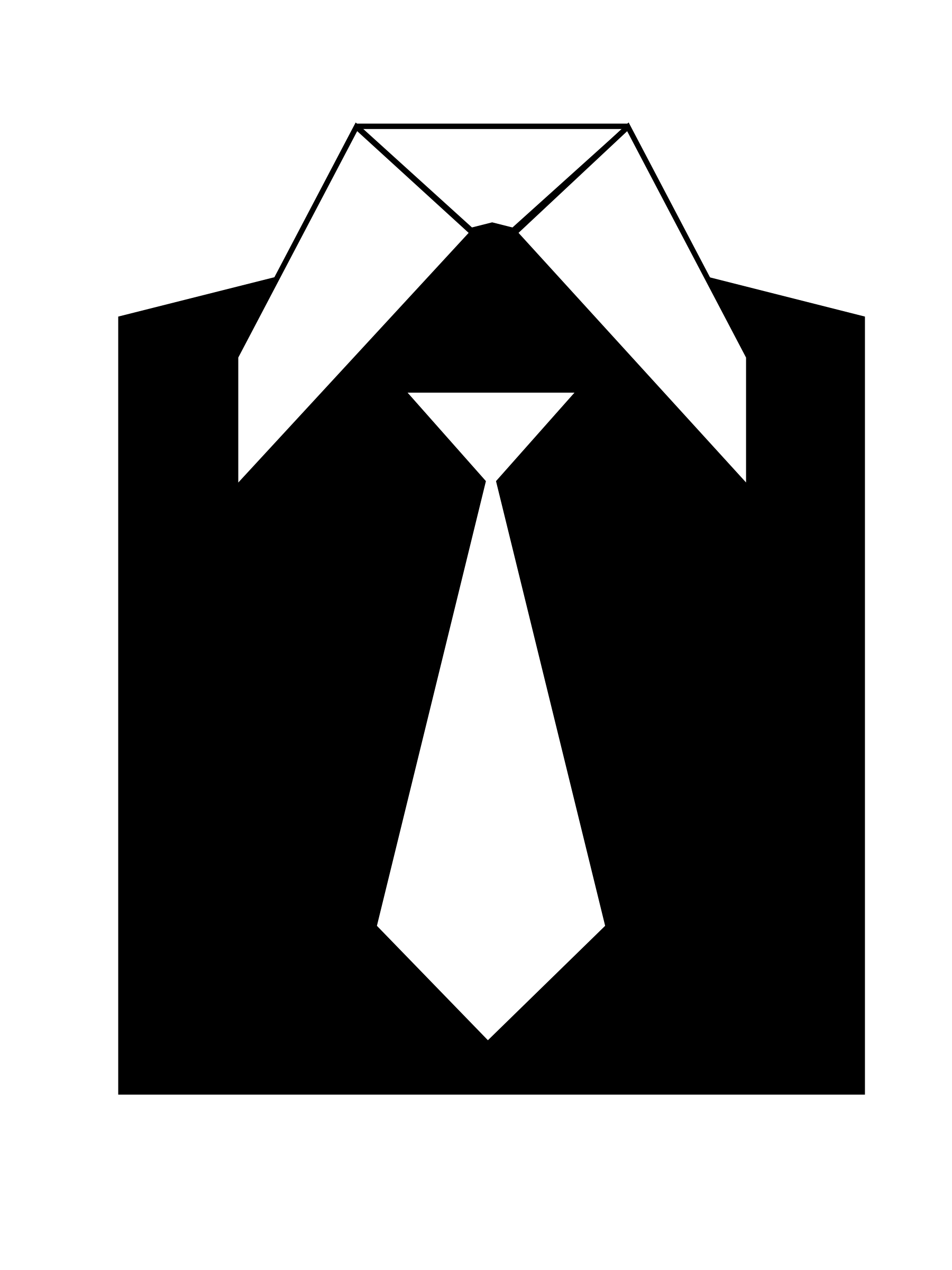 Black coat suit icon b/w by monsterbraingames