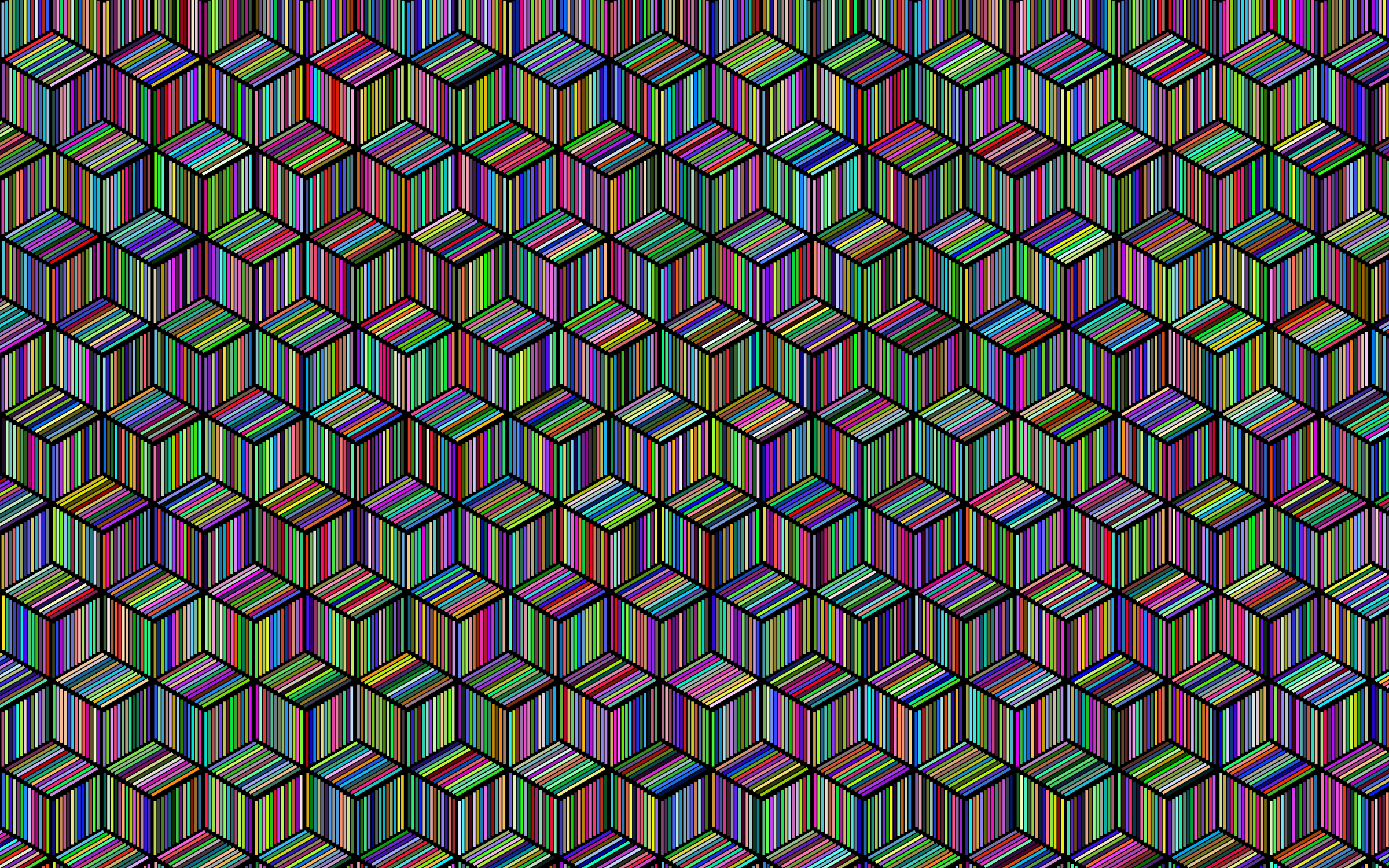 Prismatic Isometric Striped Cubes Pattern With Background by GDJ