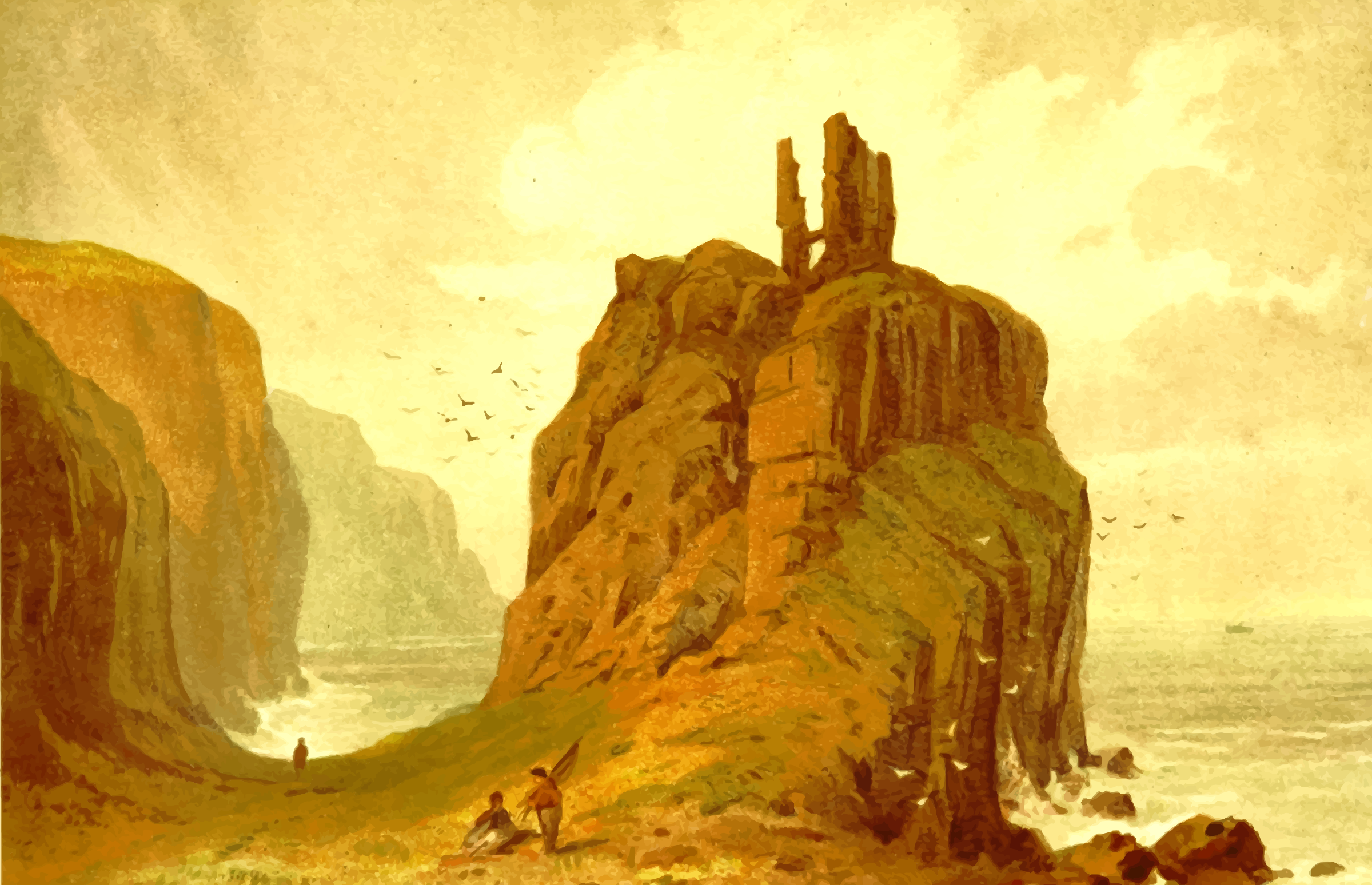 Dunseverick Castle by Firkin