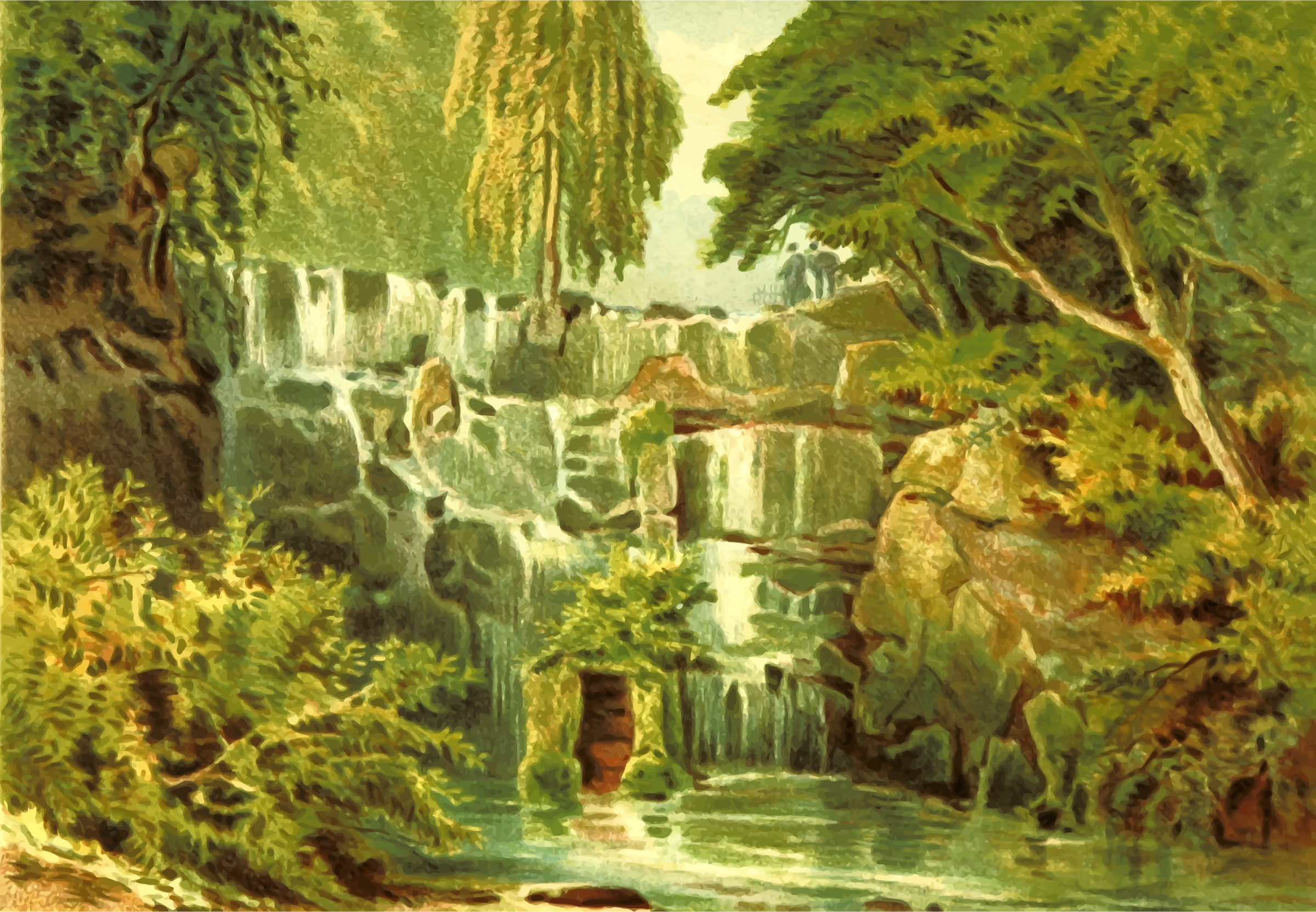 Cascade at Virginaia Water by Firkin