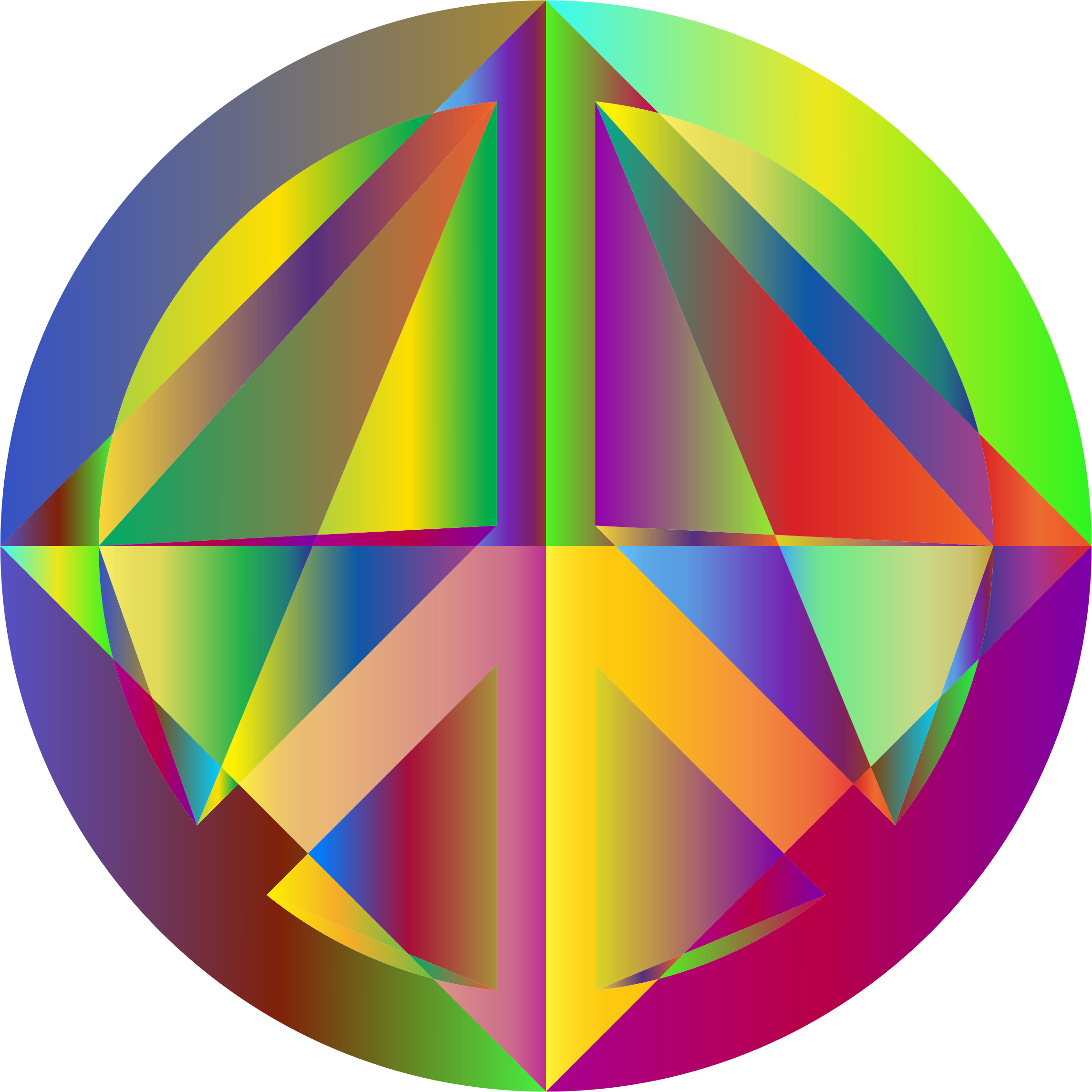 Prismatic Geometric Peace Sign by GDJ