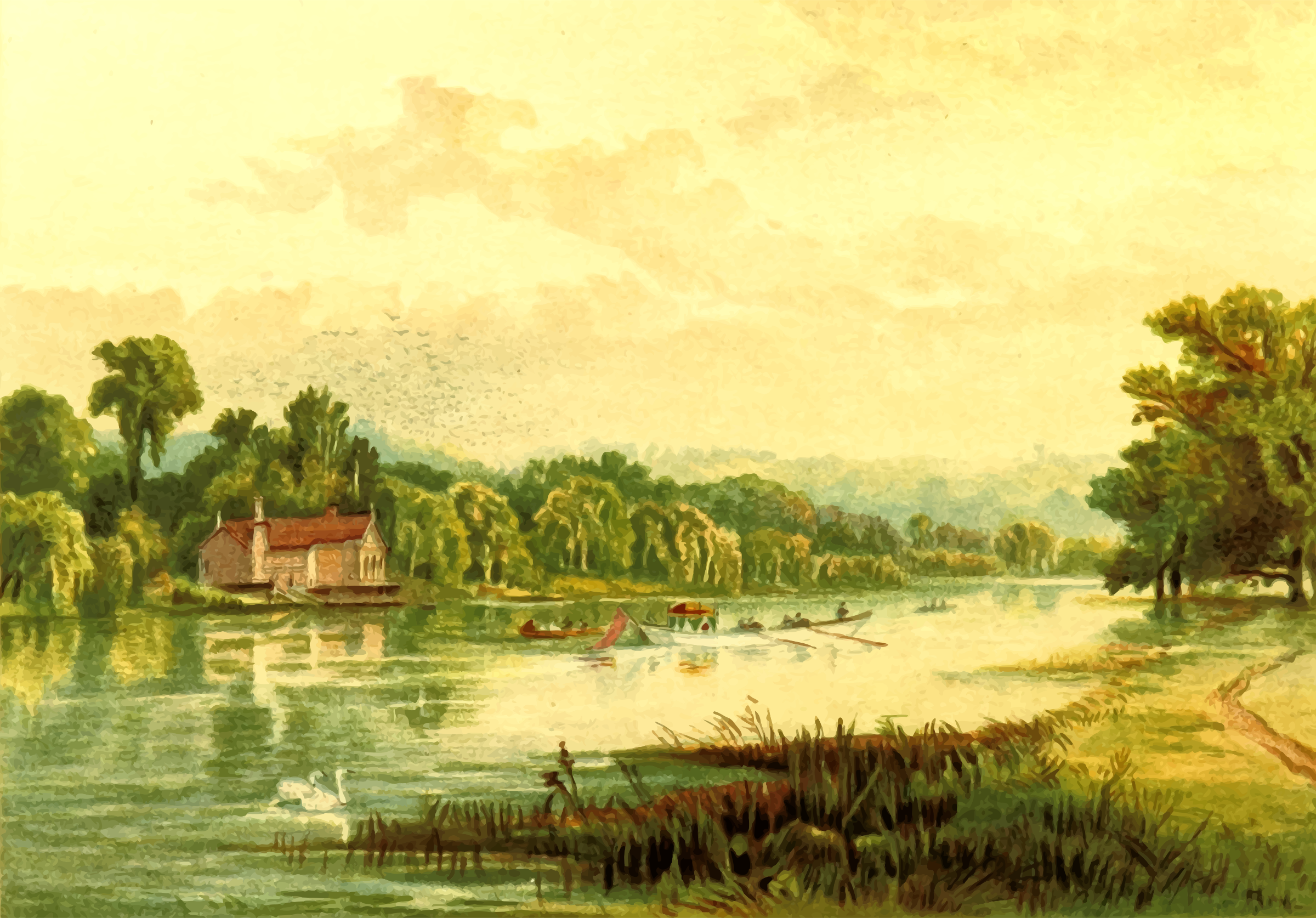 Lake at Virginia Water by Firkin