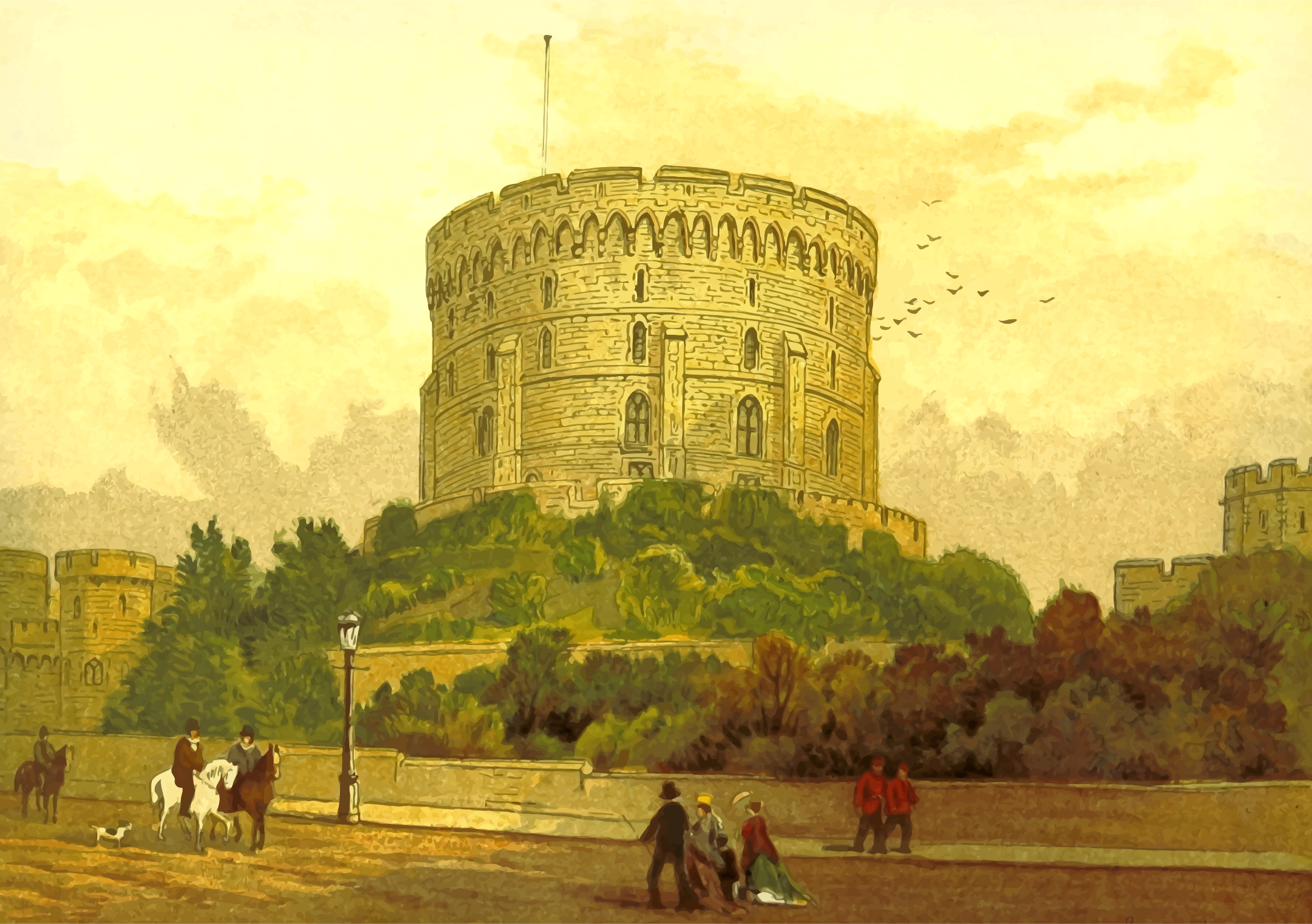 Round Tower, Windsor by Firkin