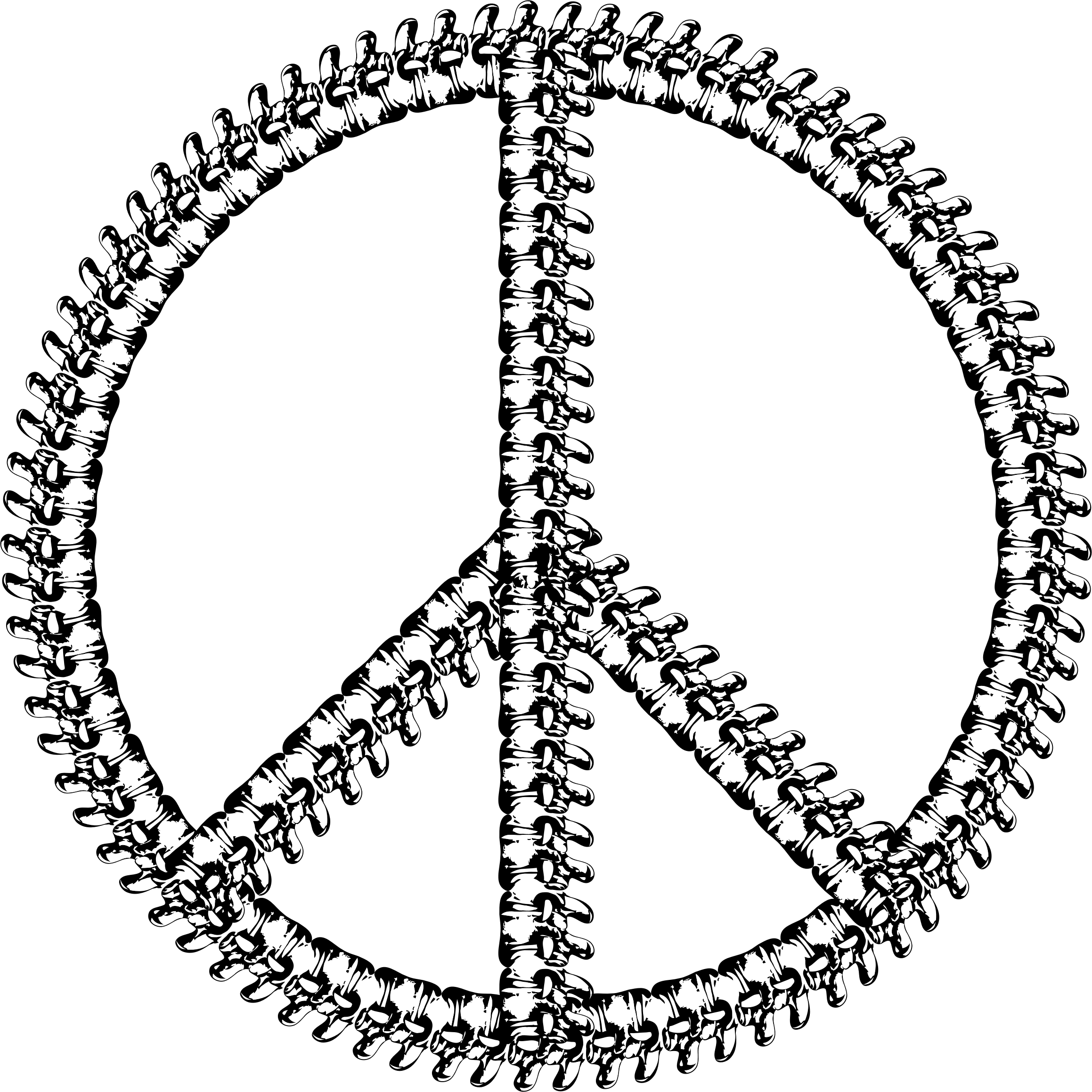 Vertebrae Peace Sign by GDJ