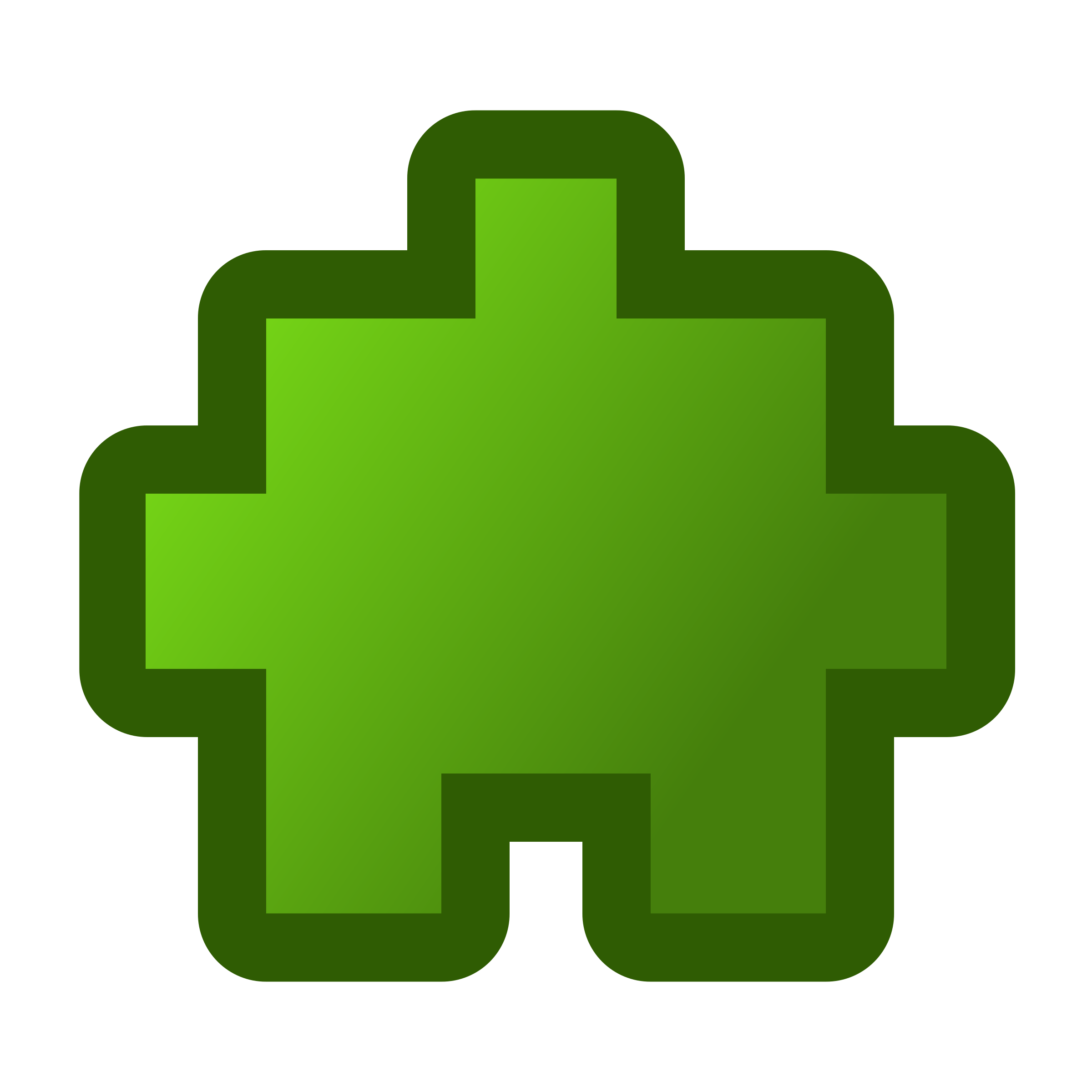 icon-puzzle2-green by jean_victor_balin
