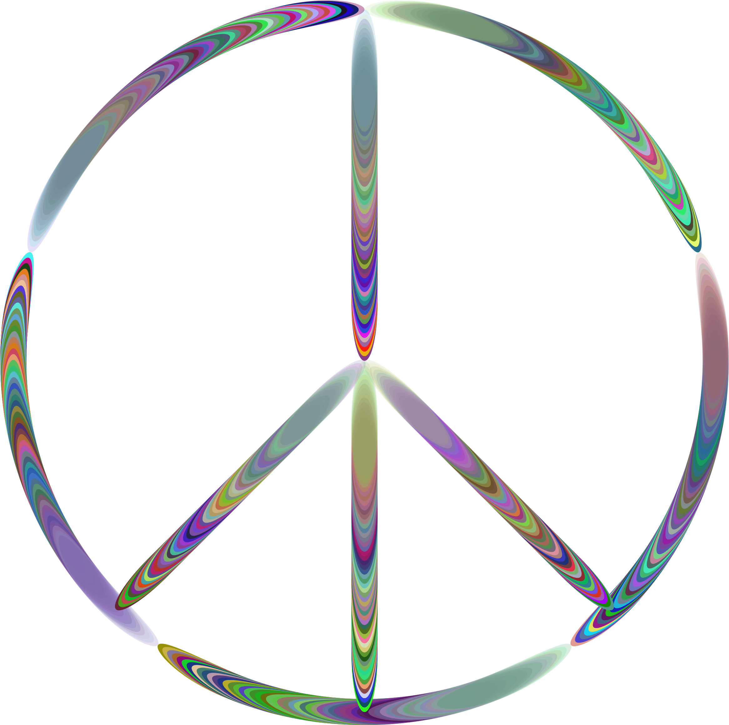 Sixties Groovy Peace Sign by GDJ