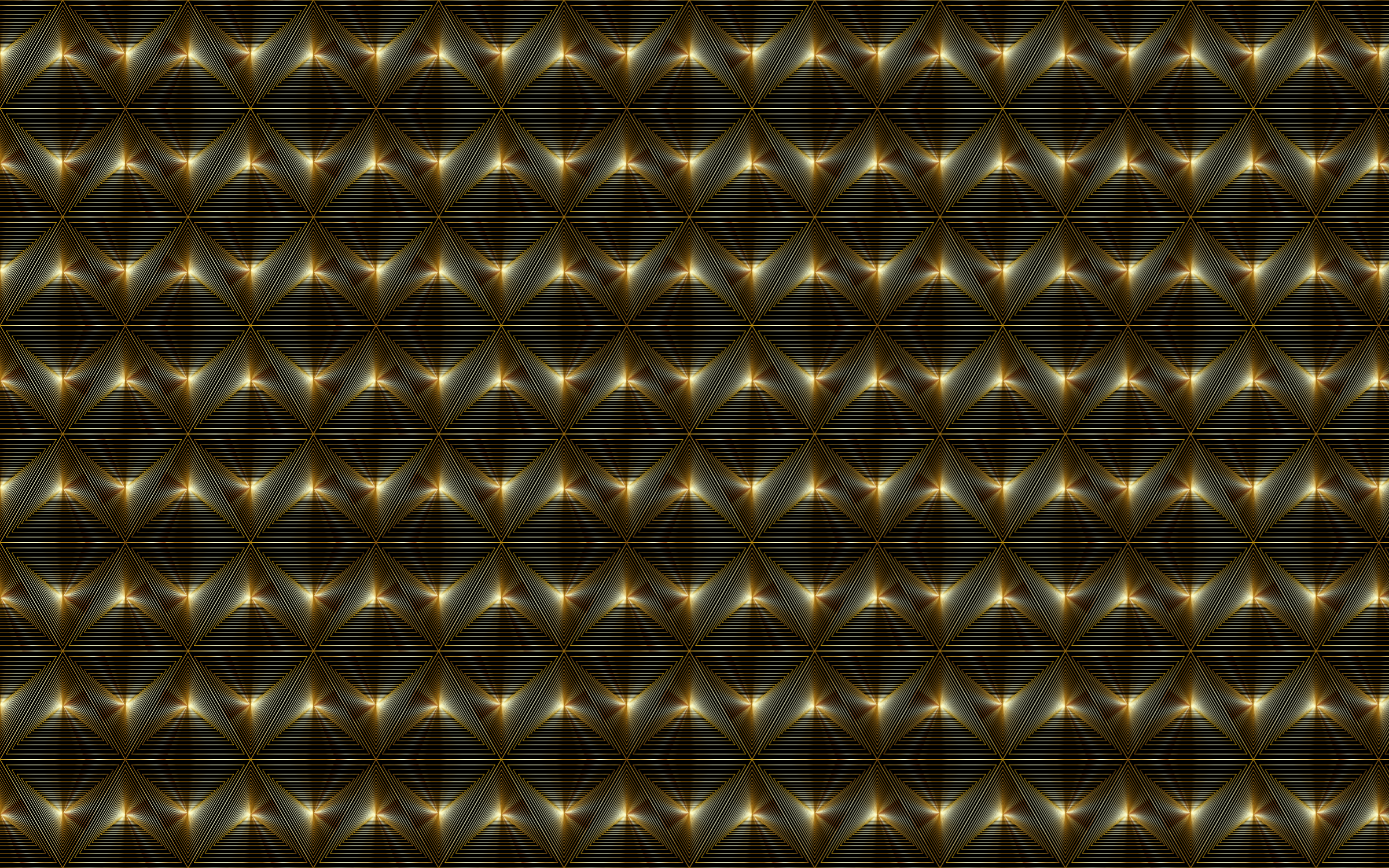 Gold Triangular Seamless Pattern by GDJ