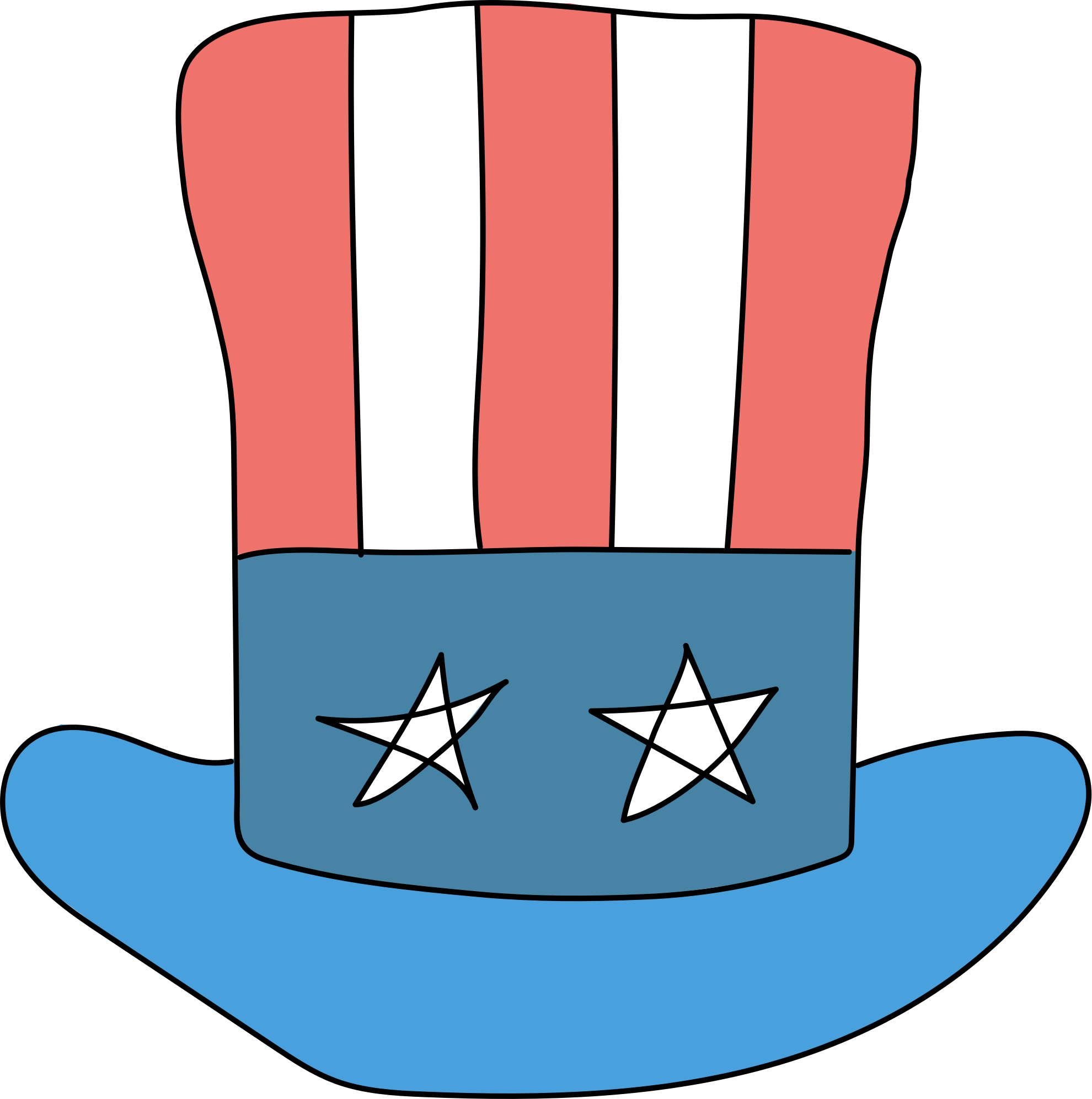 Usa Hat for Videoscribe by davidarcher