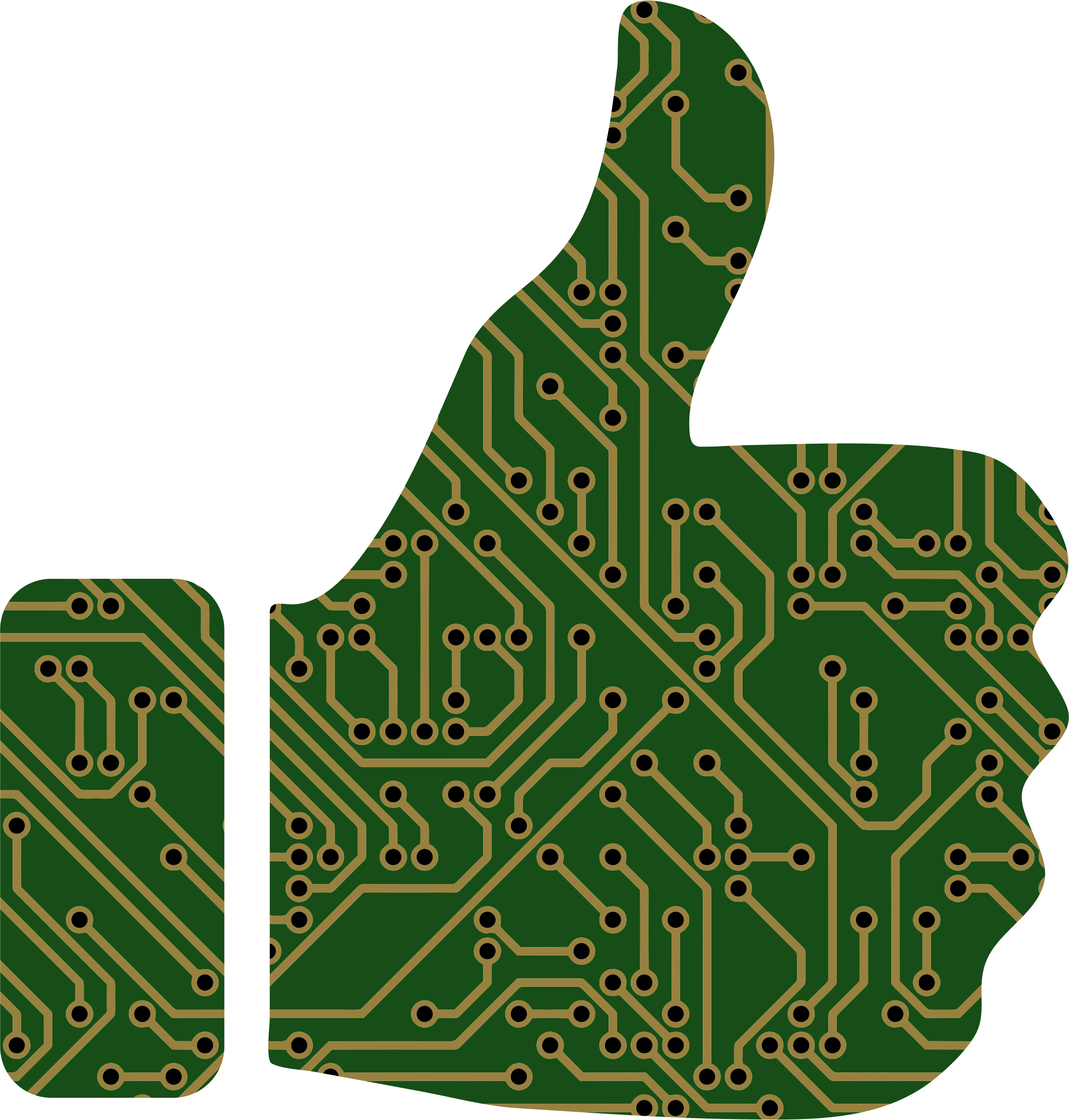 Thumbs Up Circuit Board by GDJ