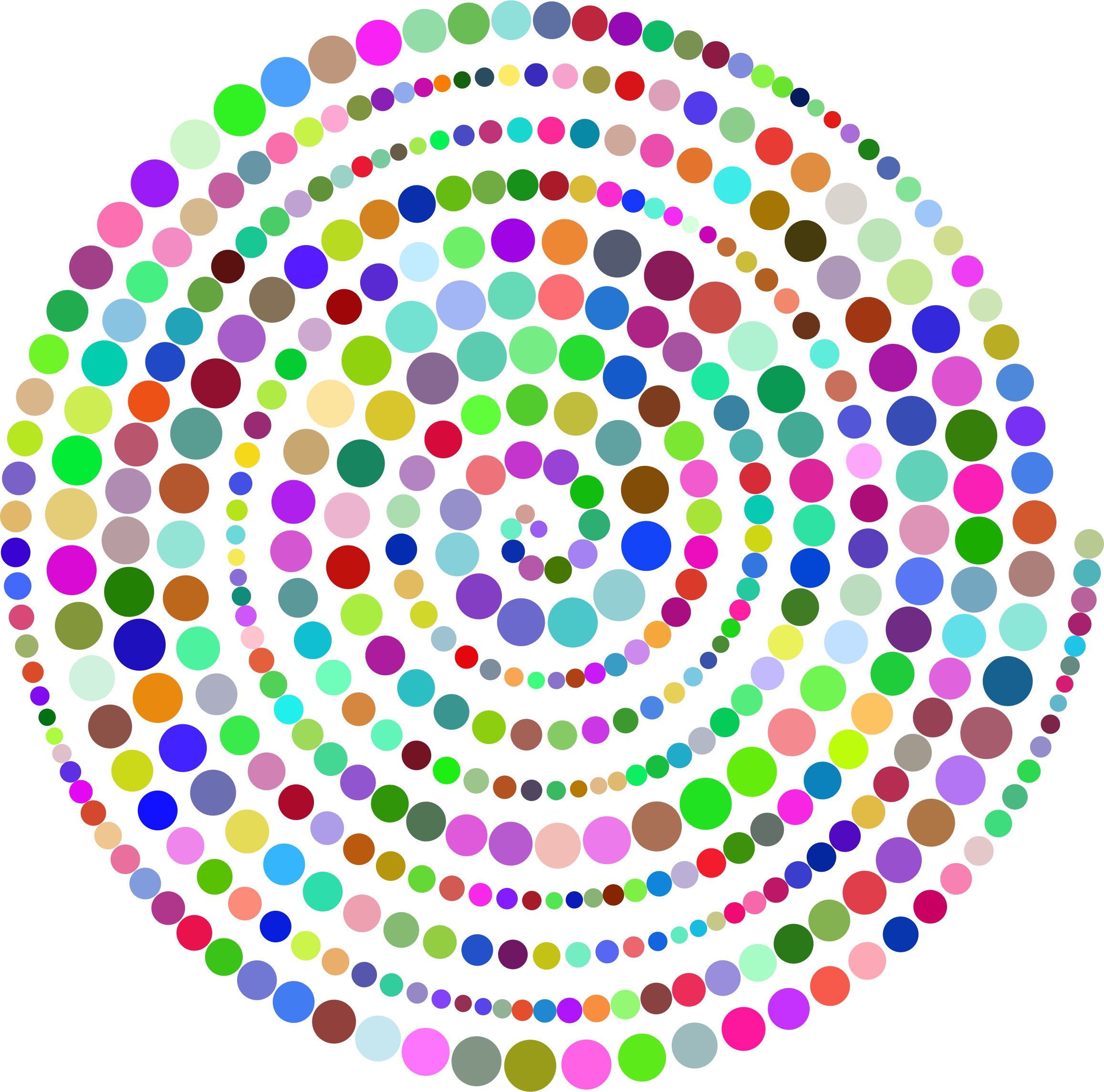 Circles Spiral Prismatic by GDJ