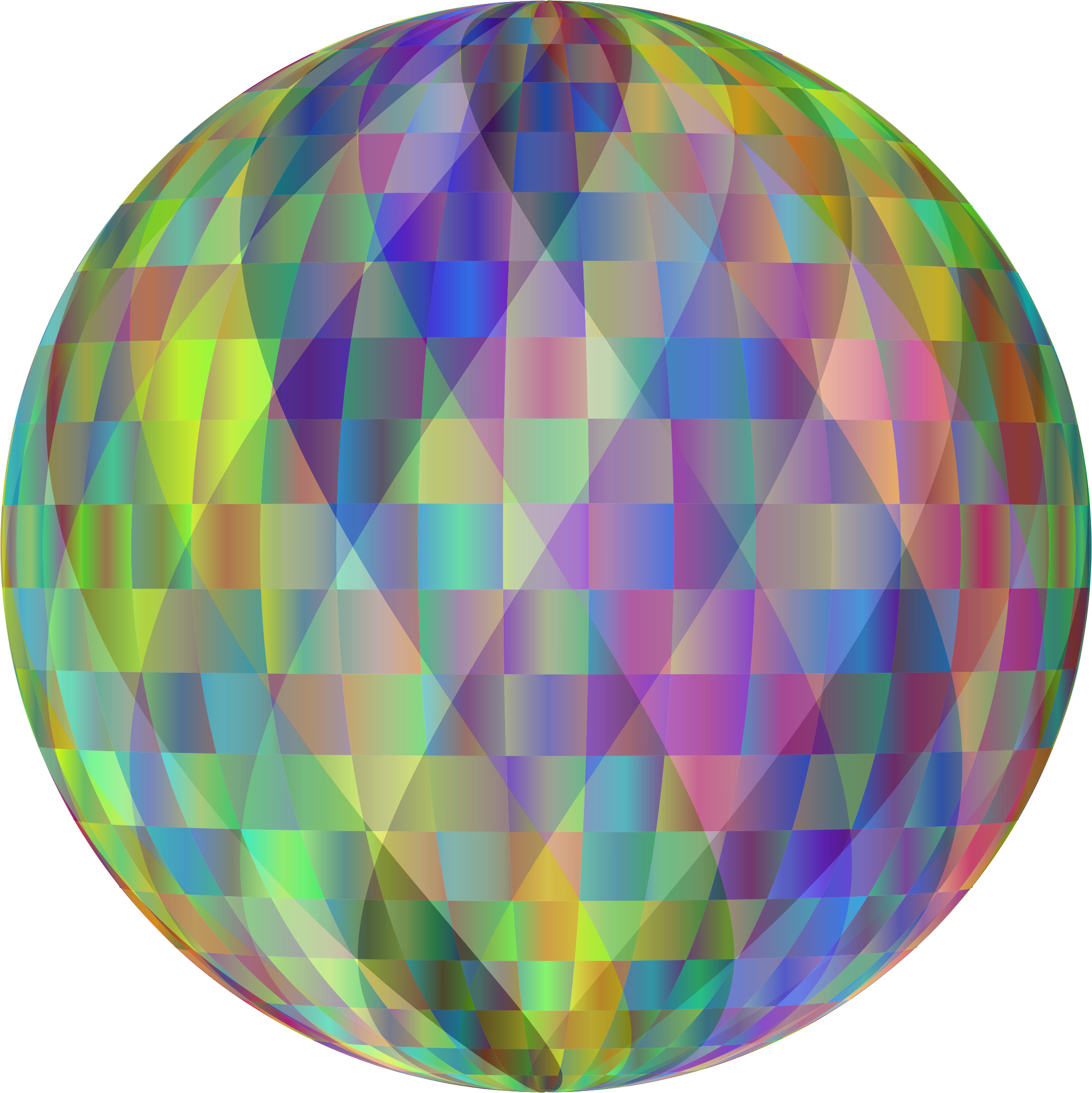 Prismatic Abstract Geometric Sphere by GDJ