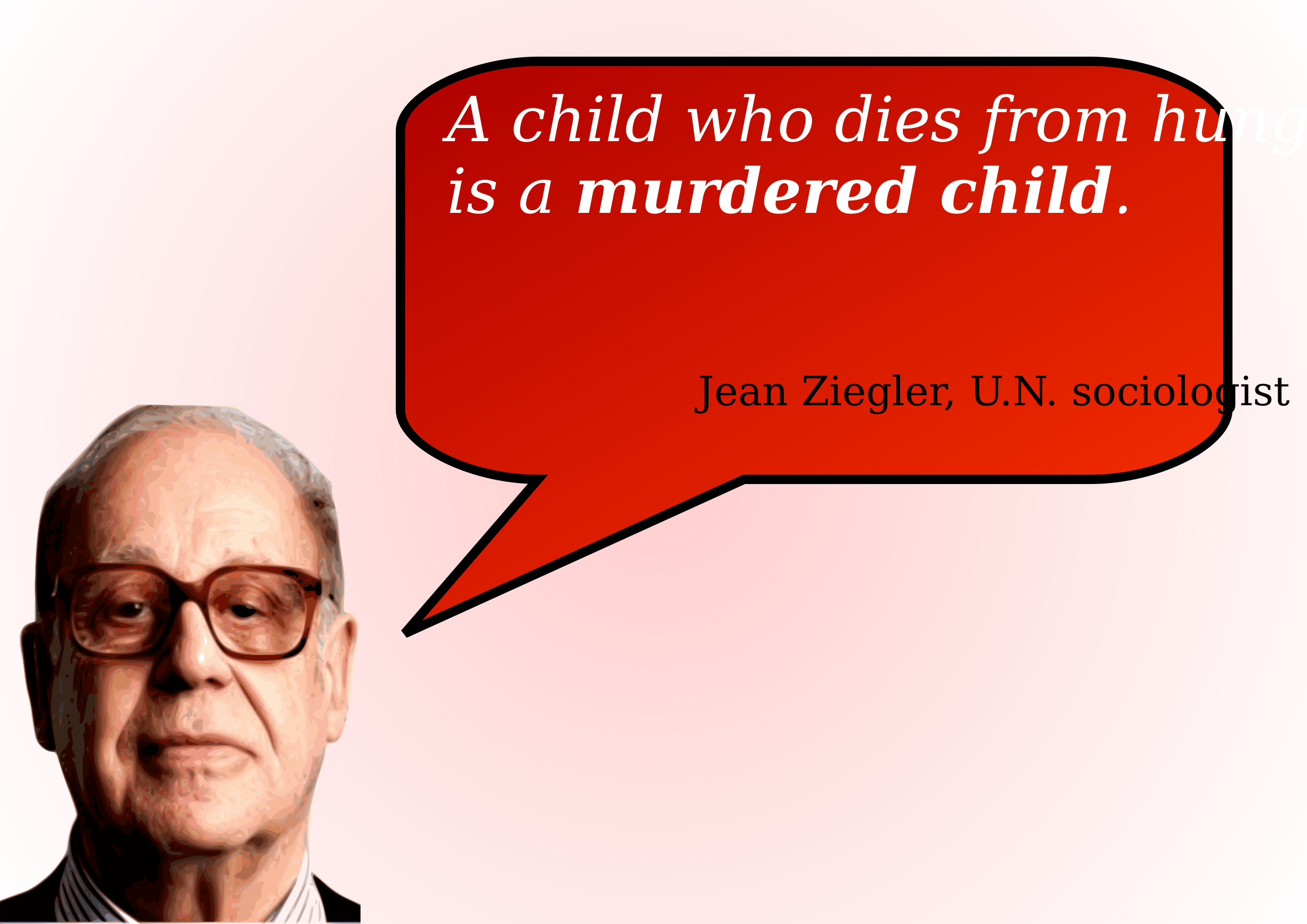 A child who dies from hunger is a murdered child by KCJV