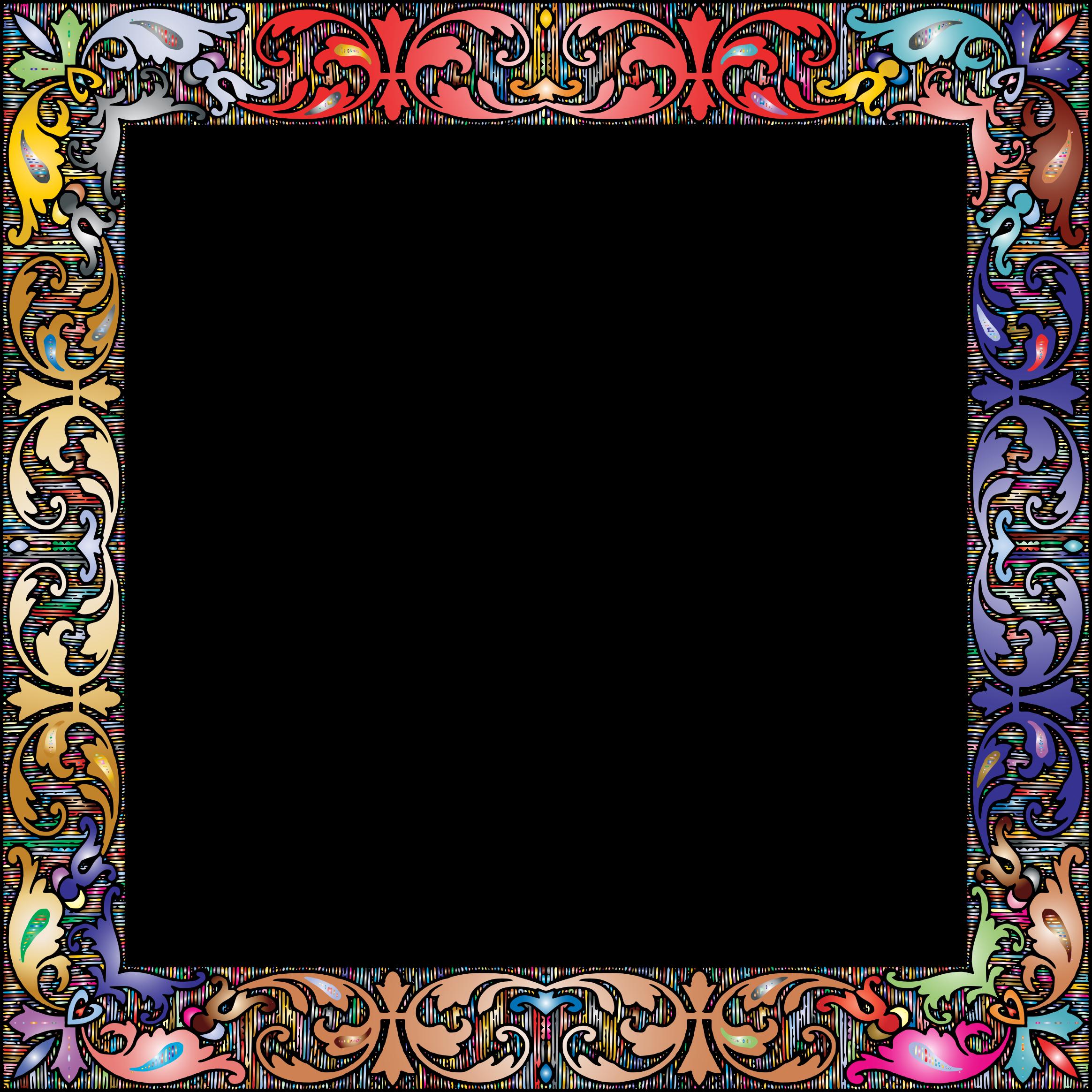 Clipart - Fancy Vintage Square Frame 2 Prismatic