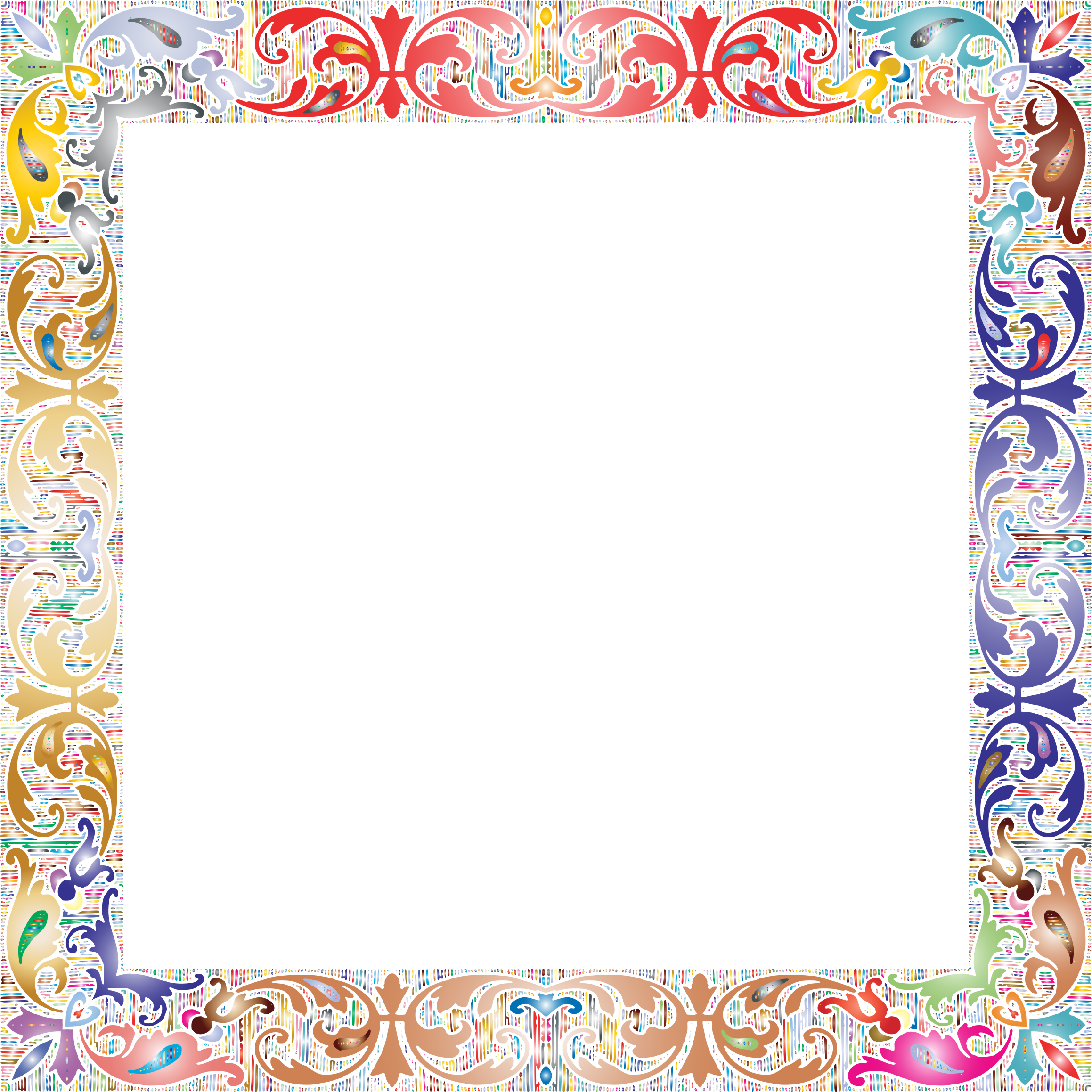 Fancy Vintage Square Frame 2 Prismatic No Background by GDJ