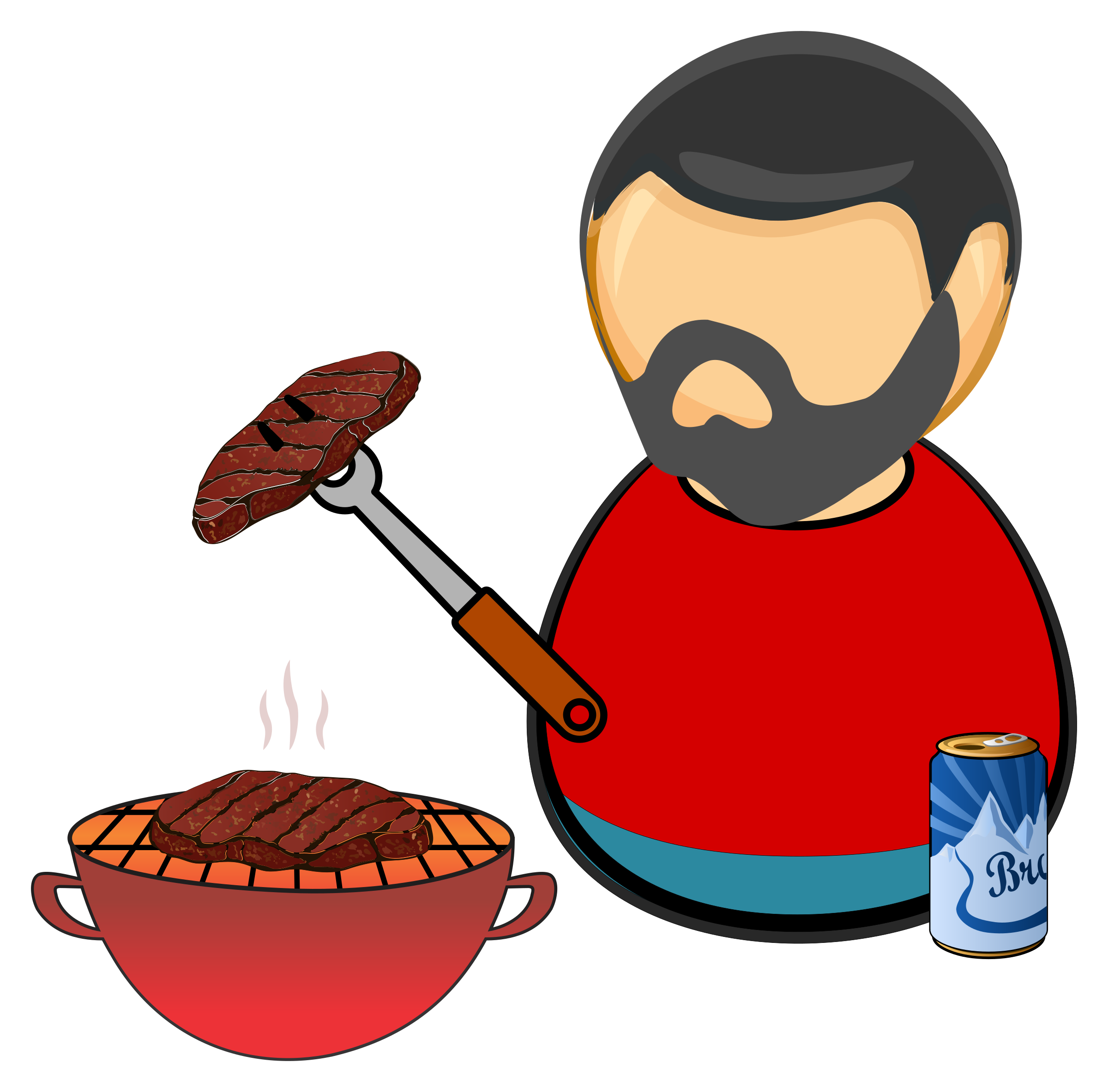 Barbecue guy by Juhele
