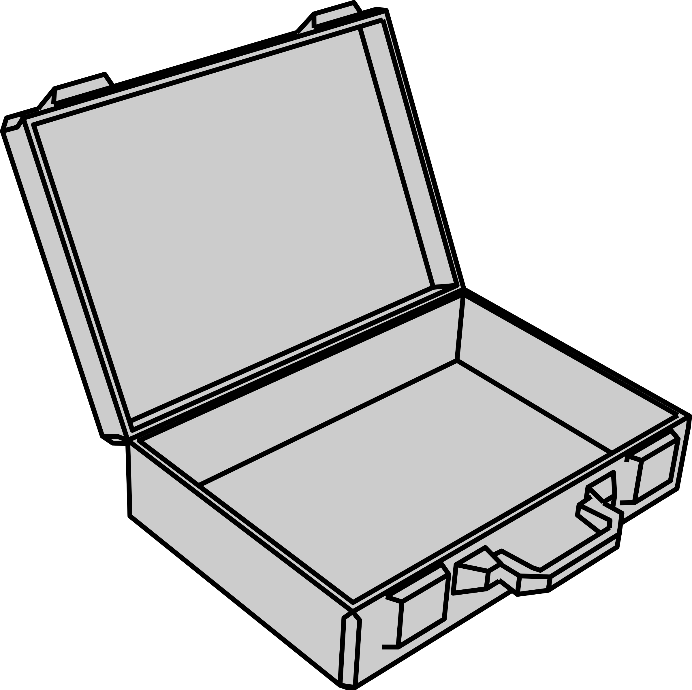 Empty suitcase by gramzon