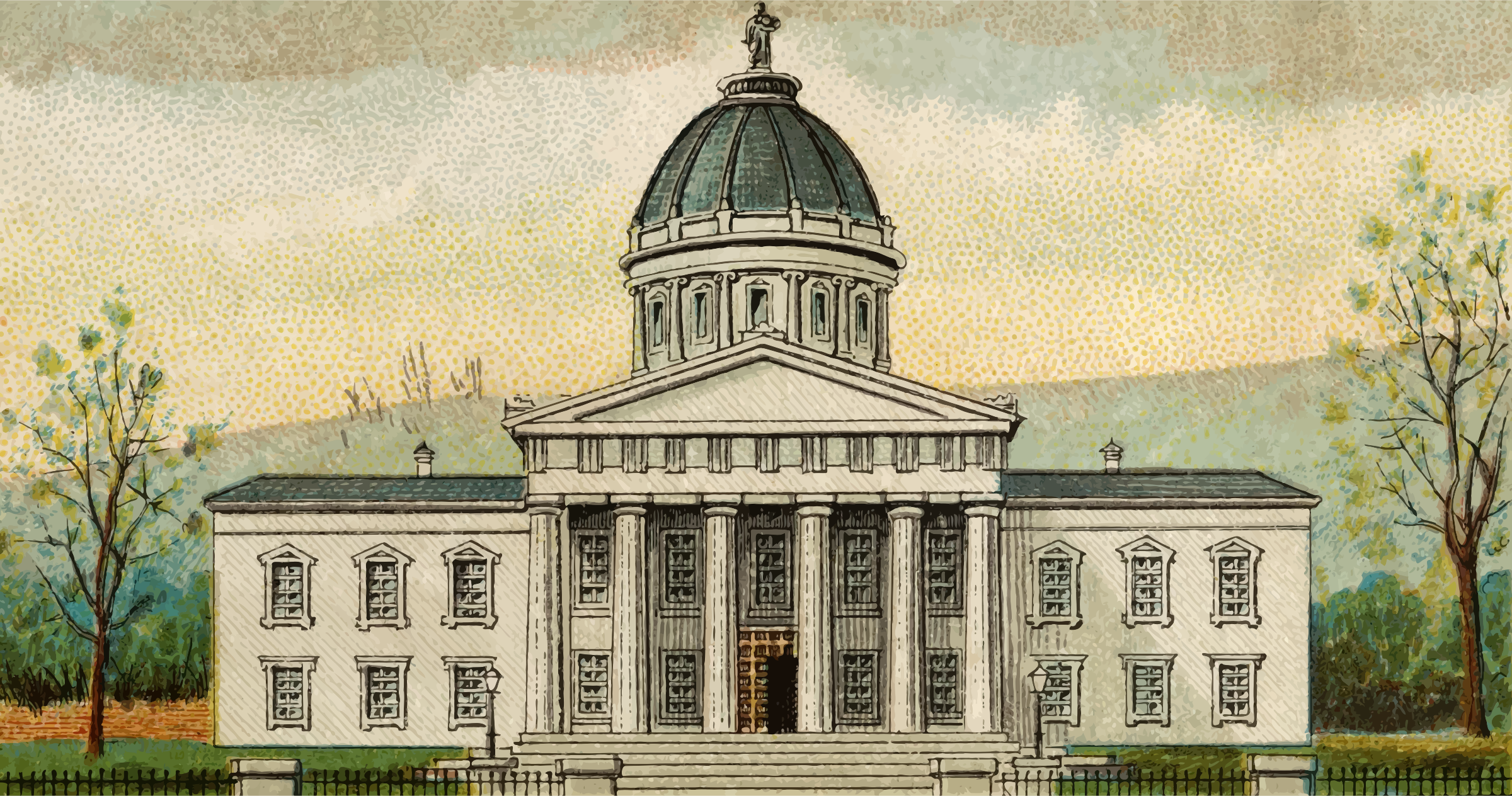 Cigarette Card - Capitol Building of Vermont by Firkin