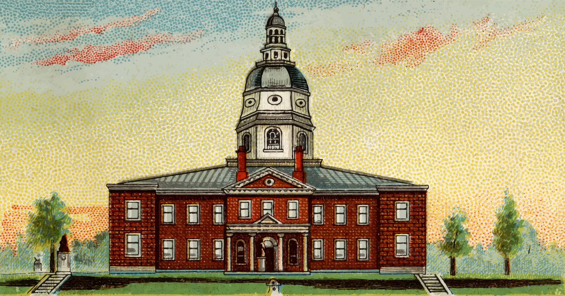 Cigarette Card - Capitol Building of Maryland by Firkin