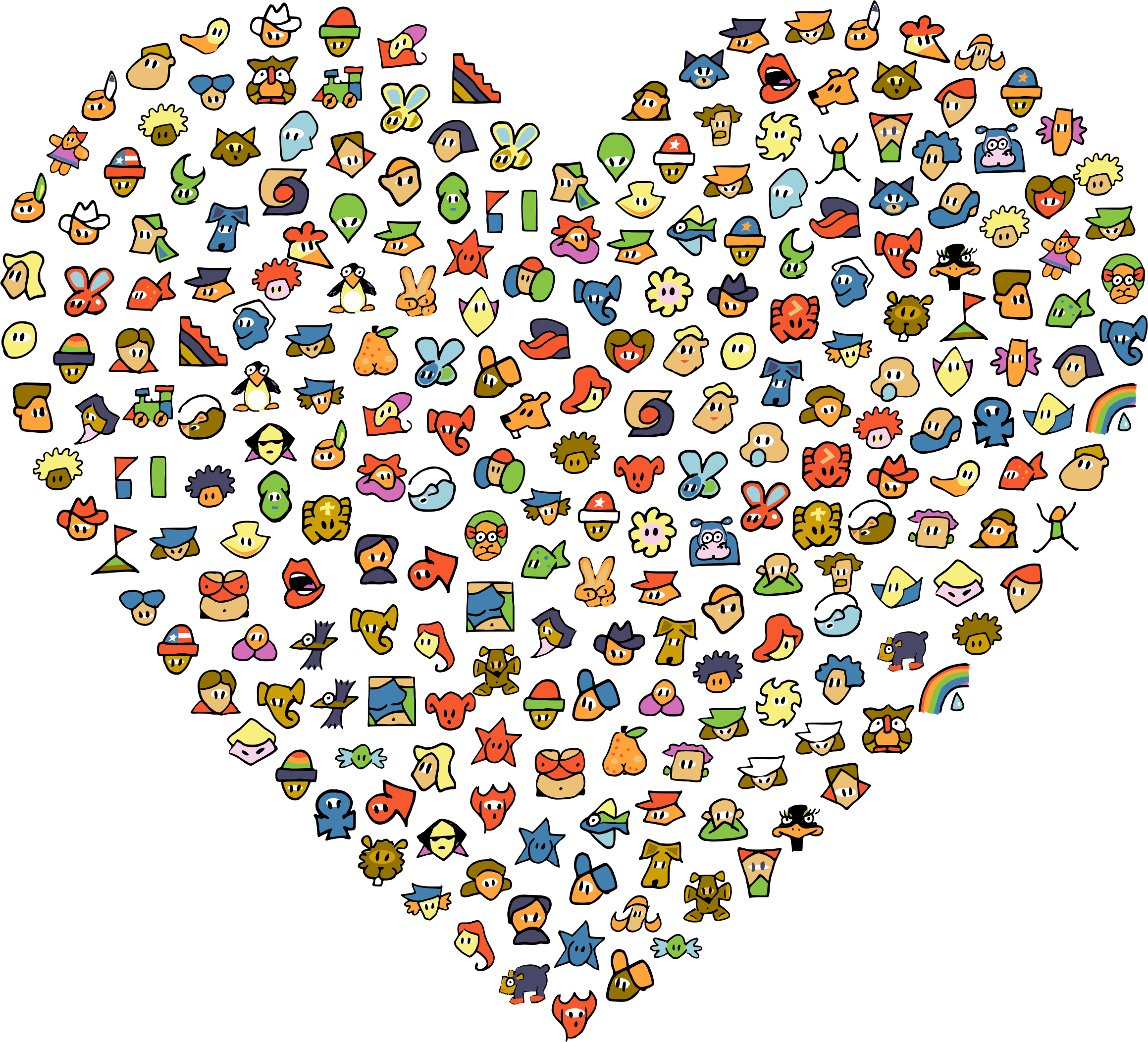 Chat Avatar Icons Heart by GDJ