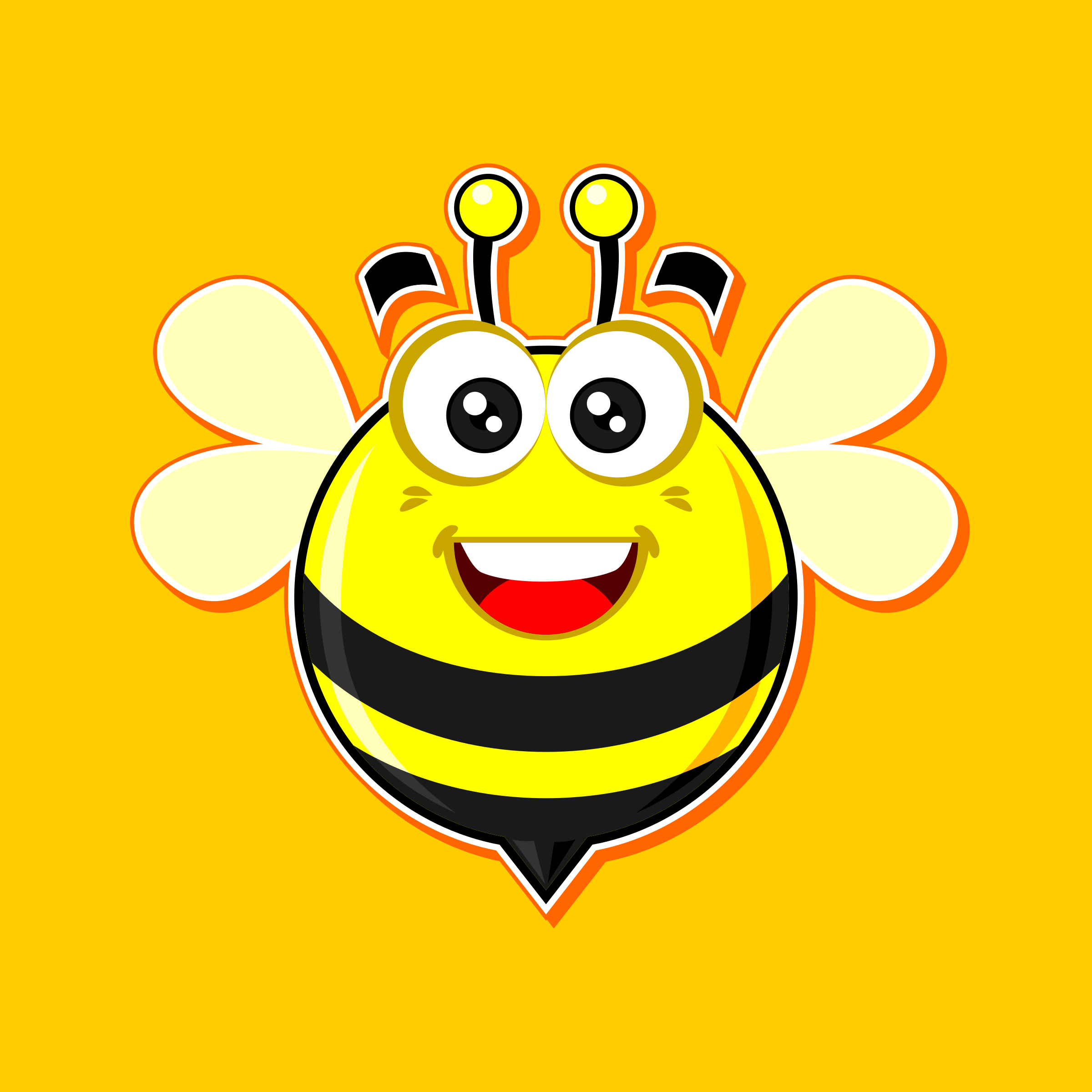 smilling bee by nugroho