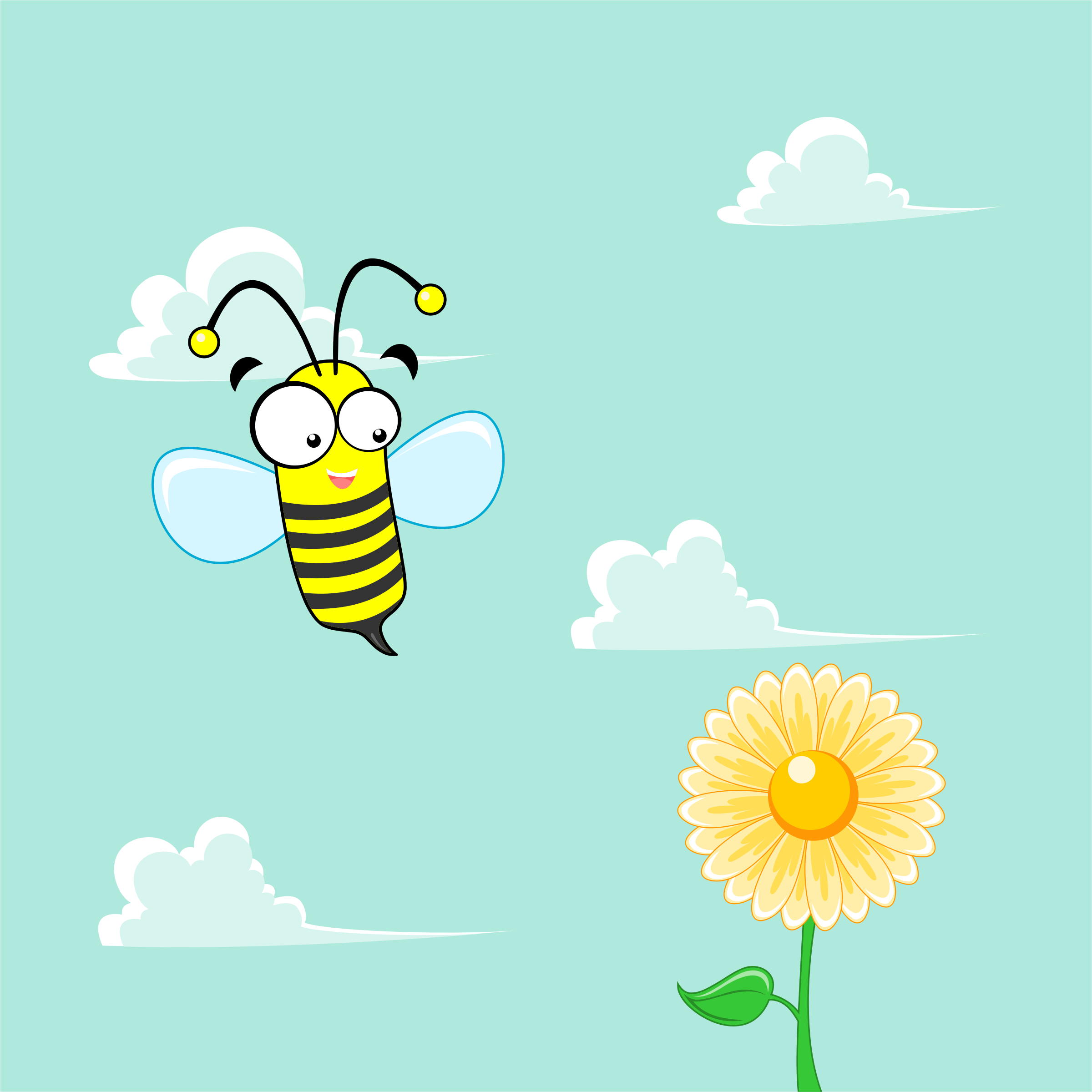 bee flying on the flower by nugroho