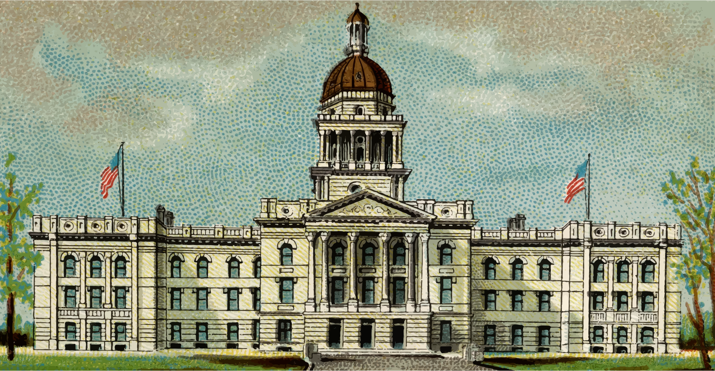 Cigarette Card - Capitol Building of Nebraska by Firkin