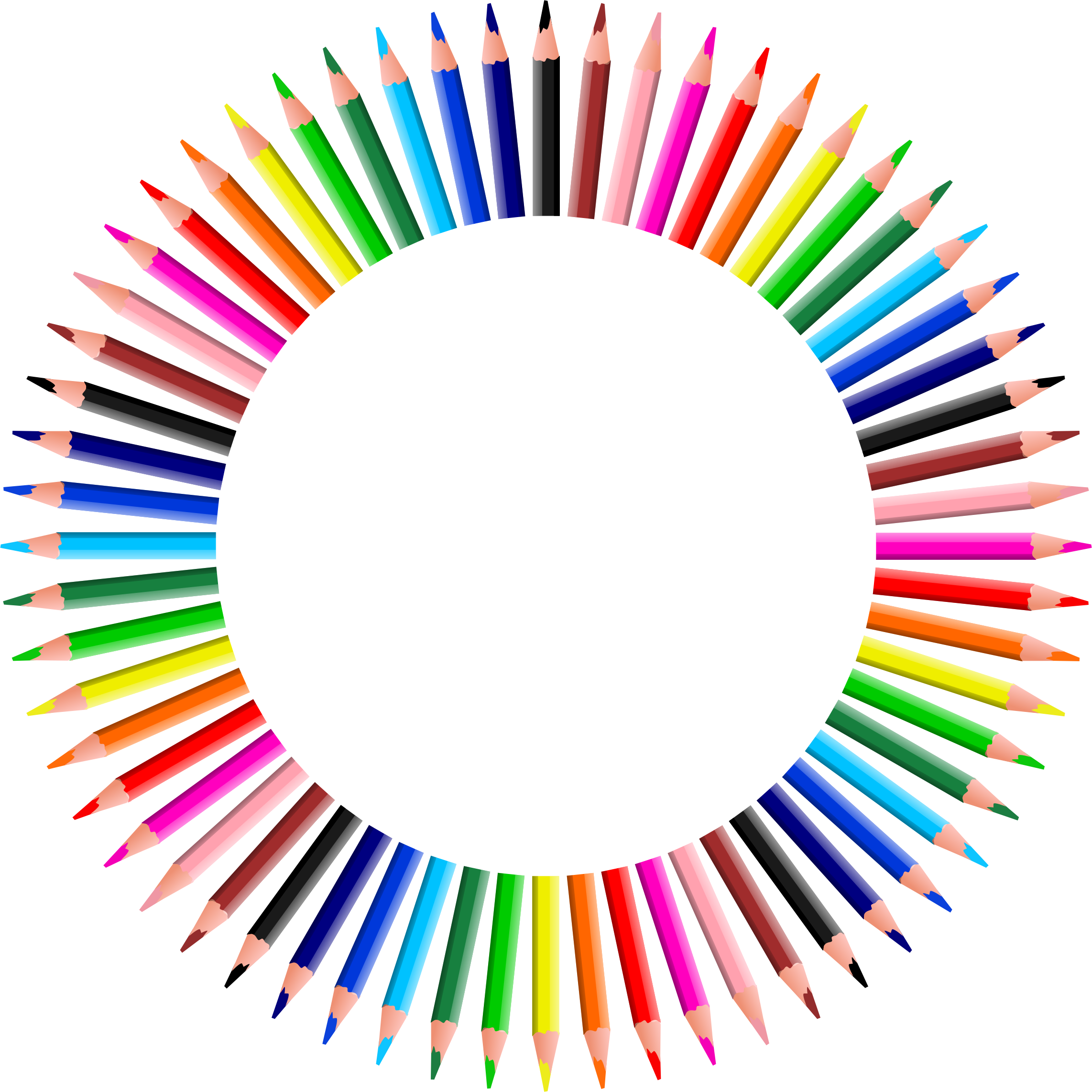 Colorful Pencils Frame 4 by GDJ