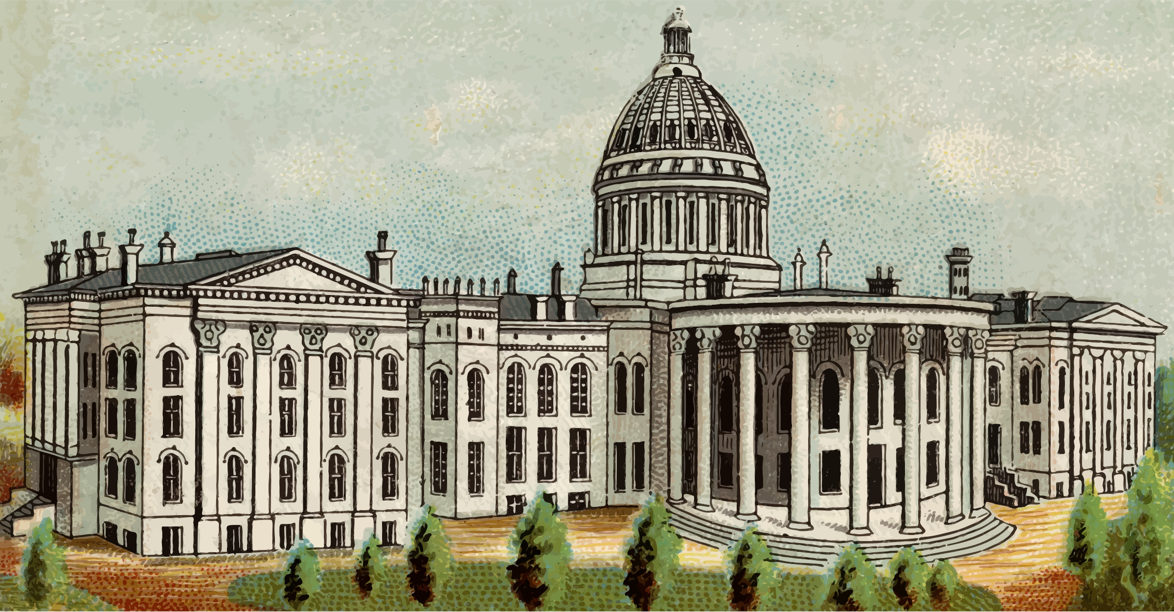 Cigarette Card - Capitol Building of Wisconsin by Firkin
