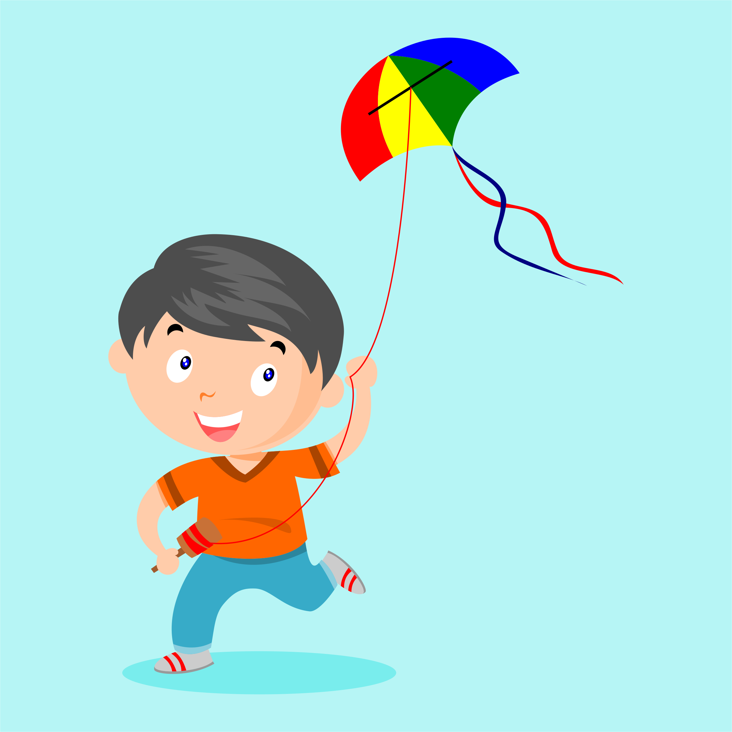 playing kite  by nugroho