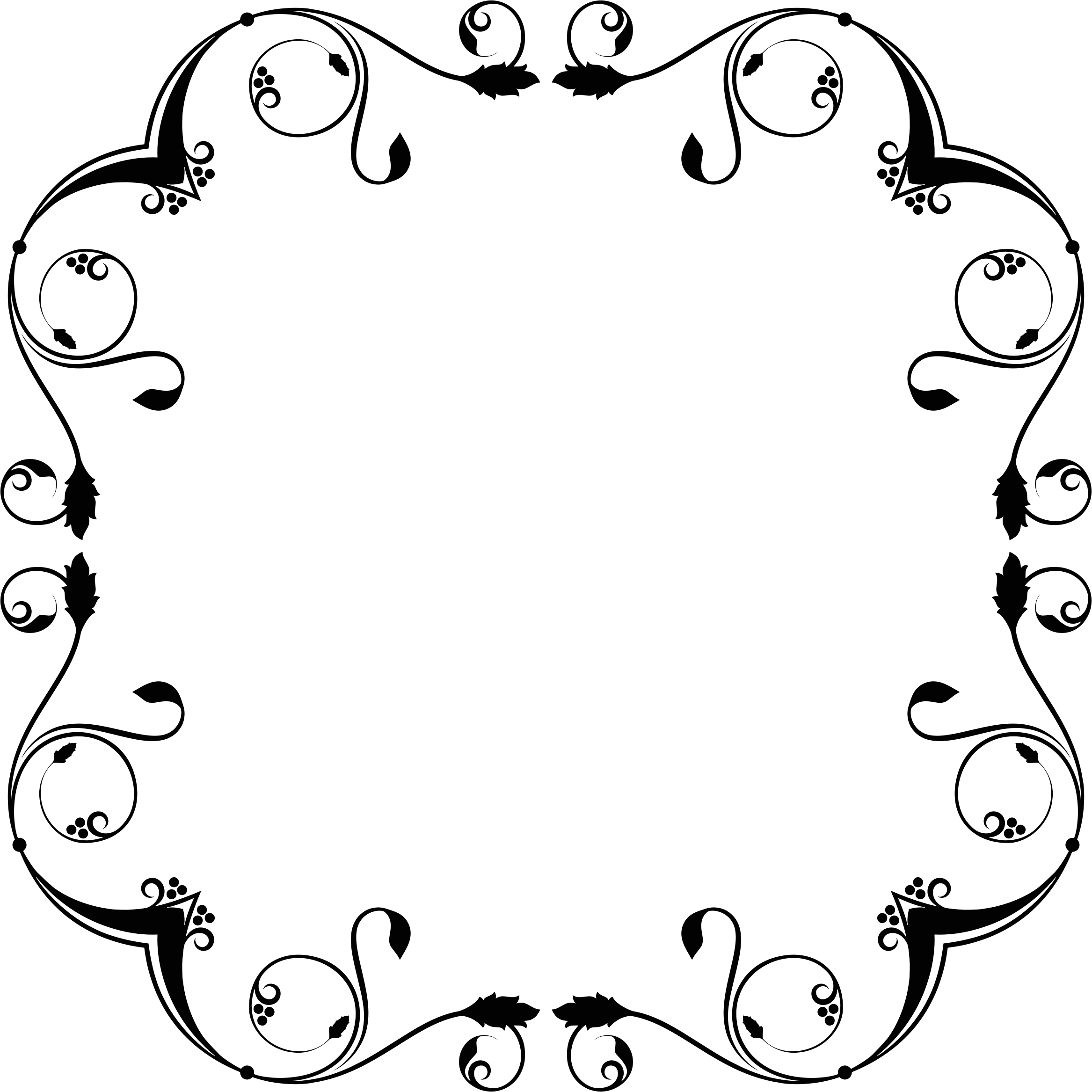 Clipart - Flourish Frame Design