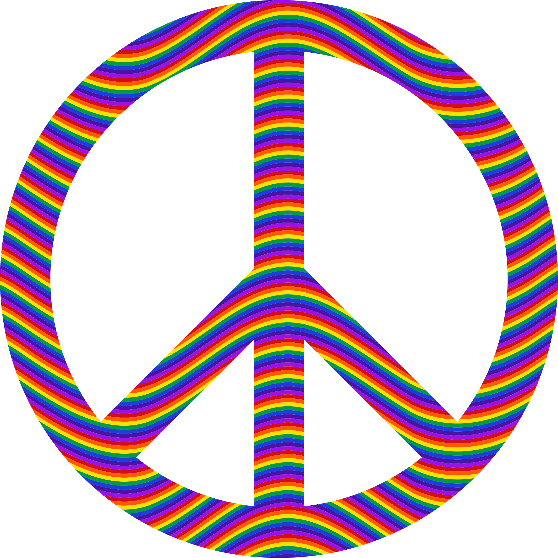 Clipart rainbow waves peace sign rainbow waves peace sign biocorpaavc