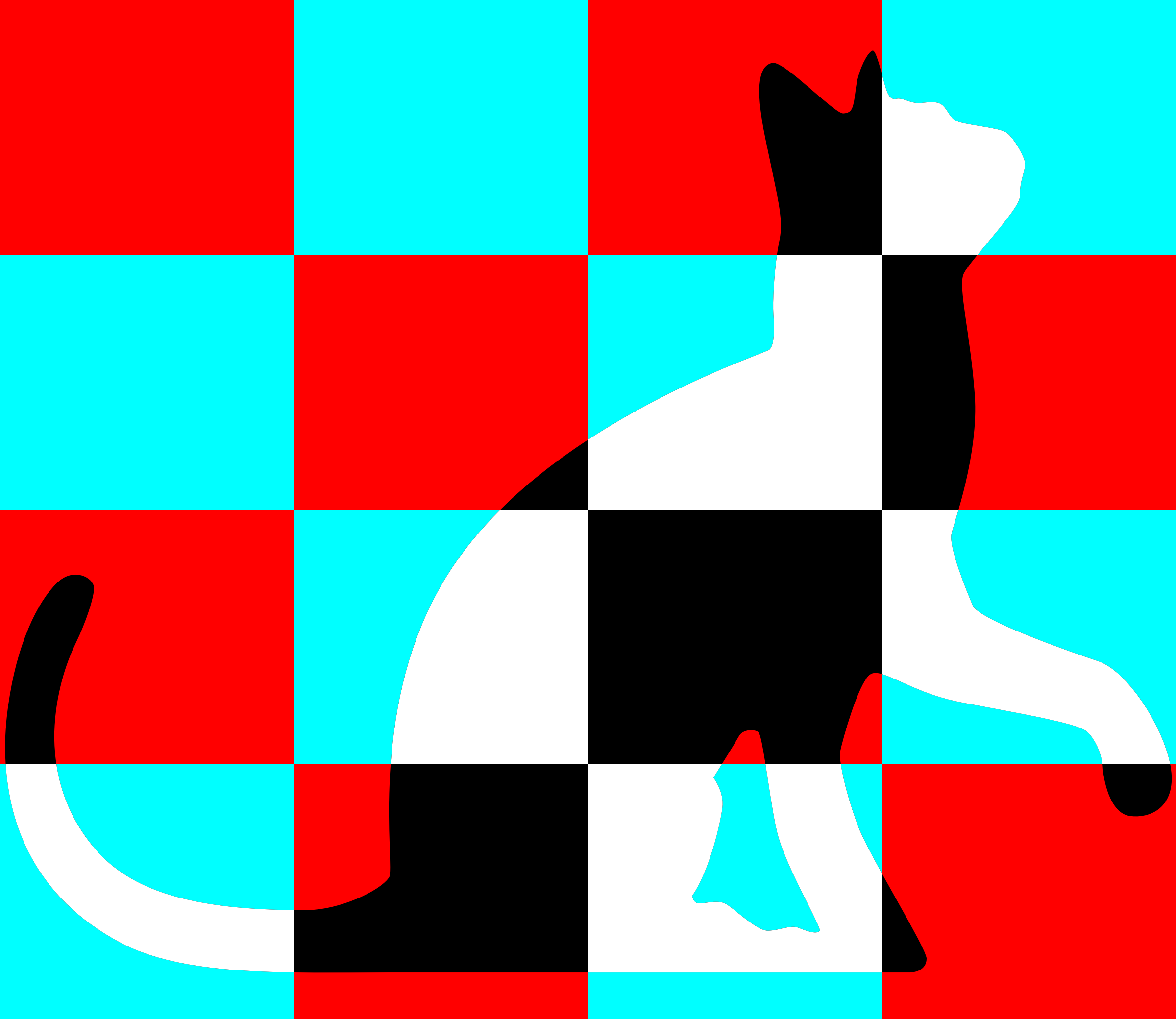 Chequered cat by Firkin
