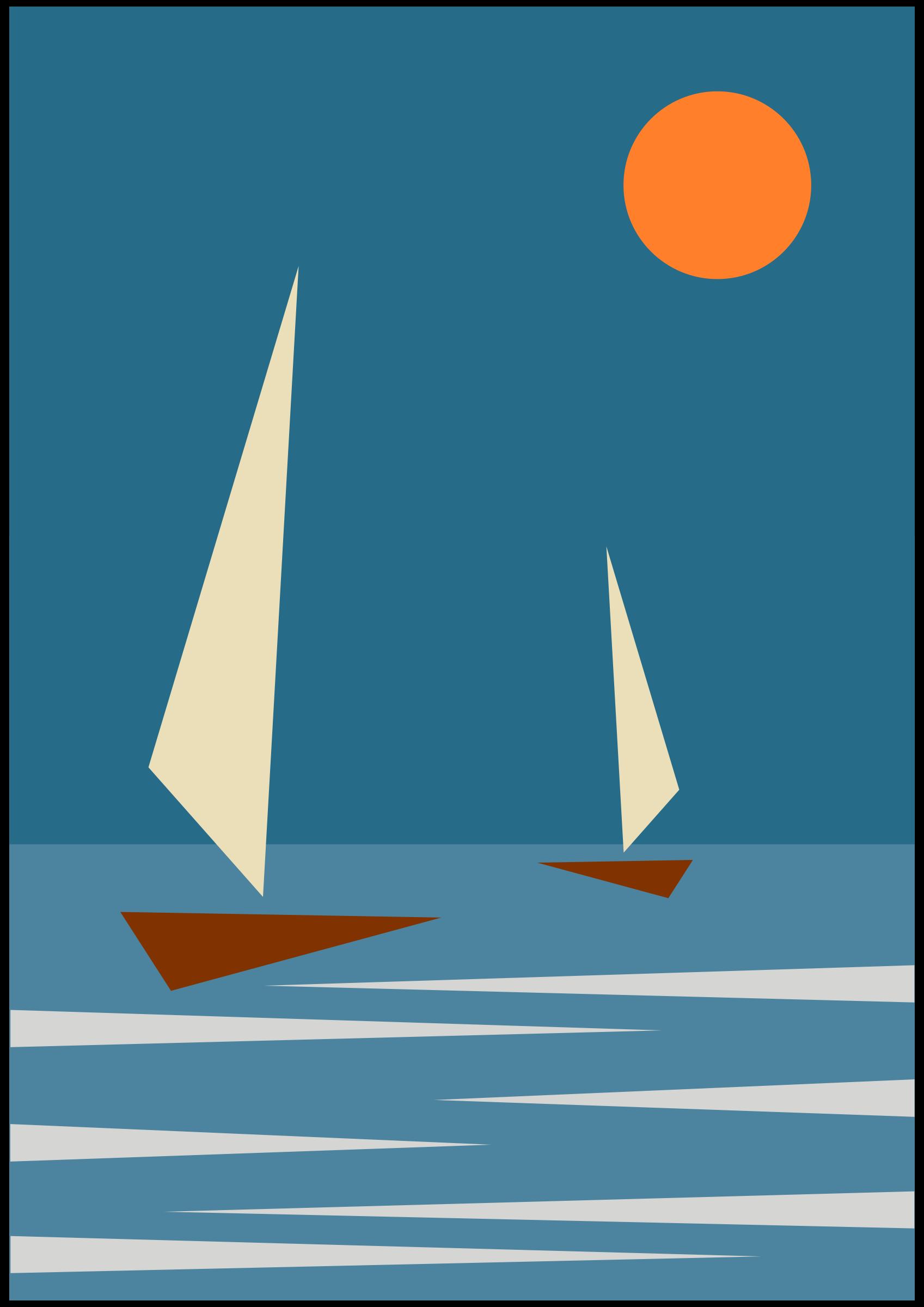 Clipart Barche Stilizzate