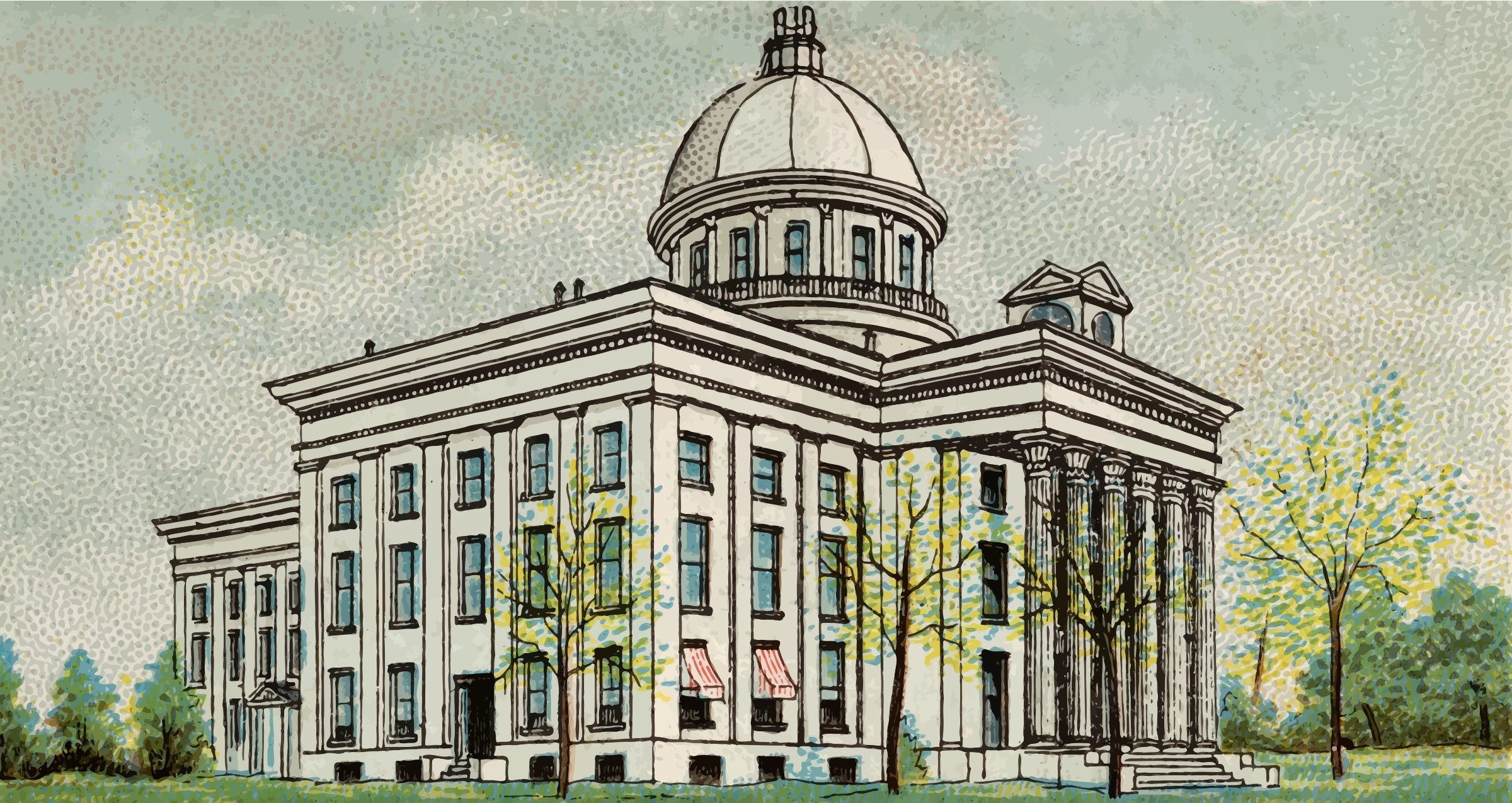 Cigarette Card - Capitol Building of Alabama by Firkin