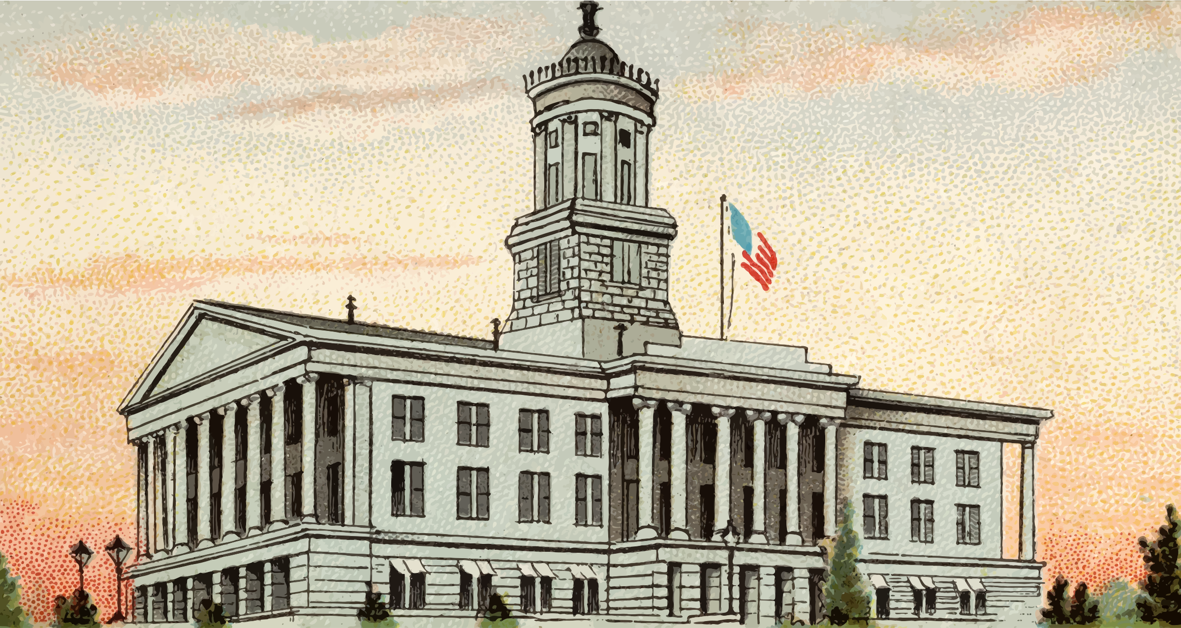 Cigarette Card - Capitol Building of Tennessee by Firkin
