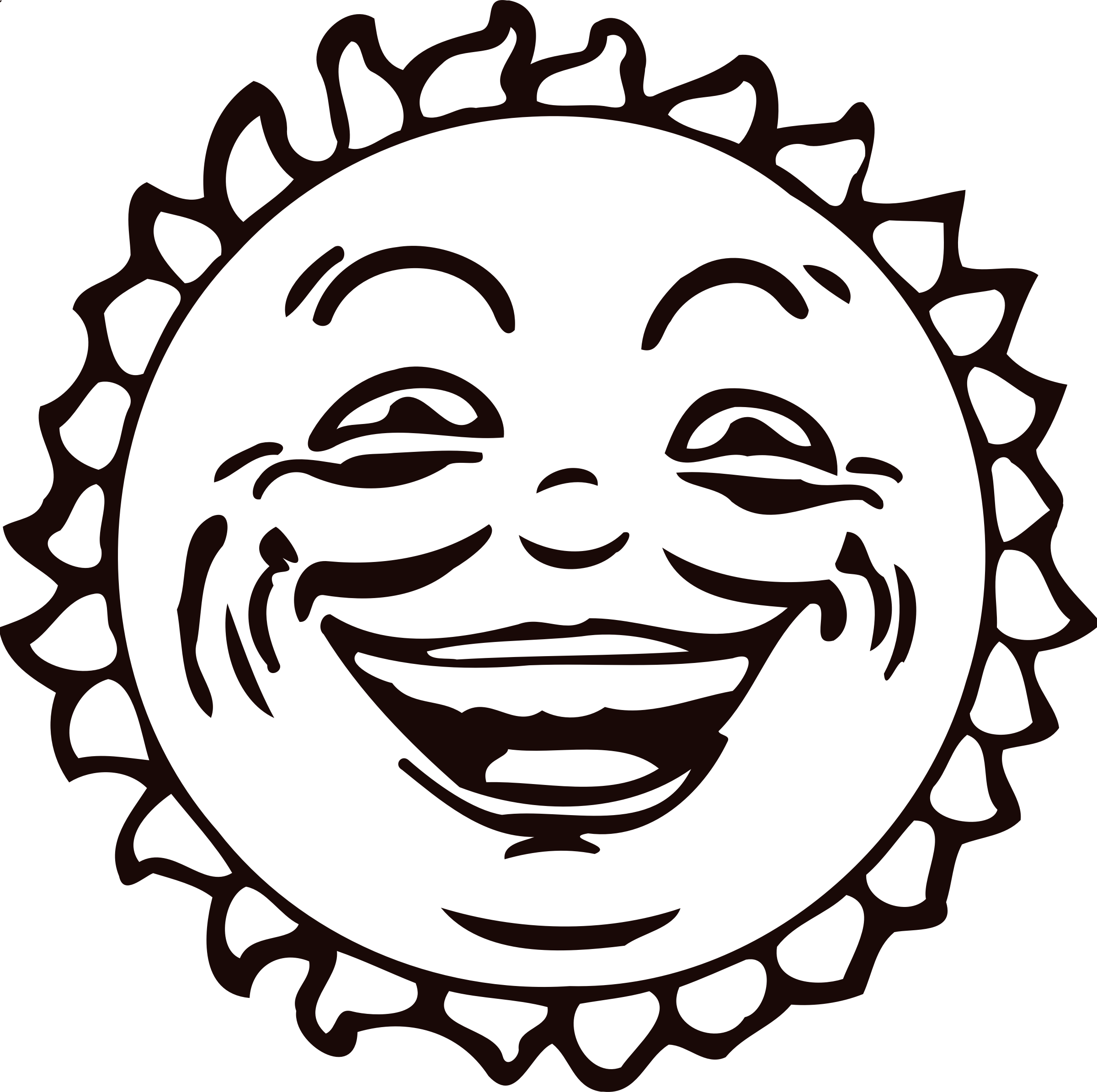 Sun face 2 by Firkin