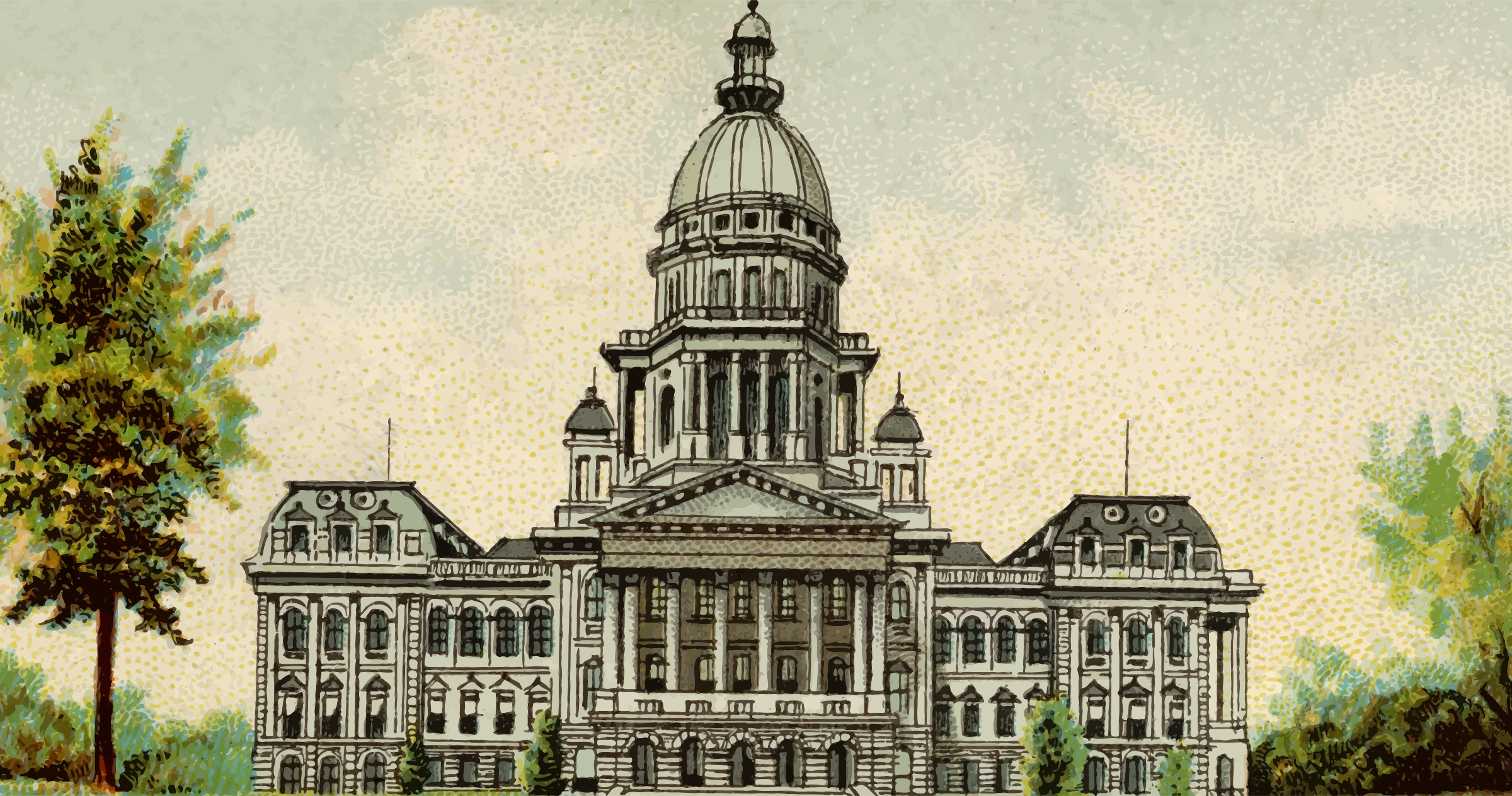 Cigarette Card - Capitol Building of Illinois by Firkin