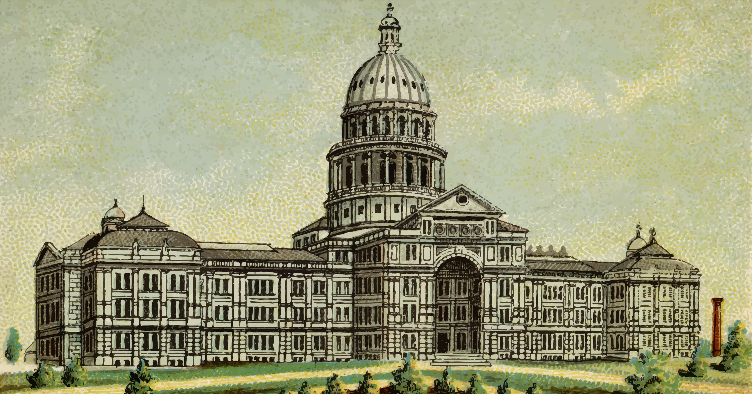 Cigarette Card - Capitol Building of Texas by Firkin