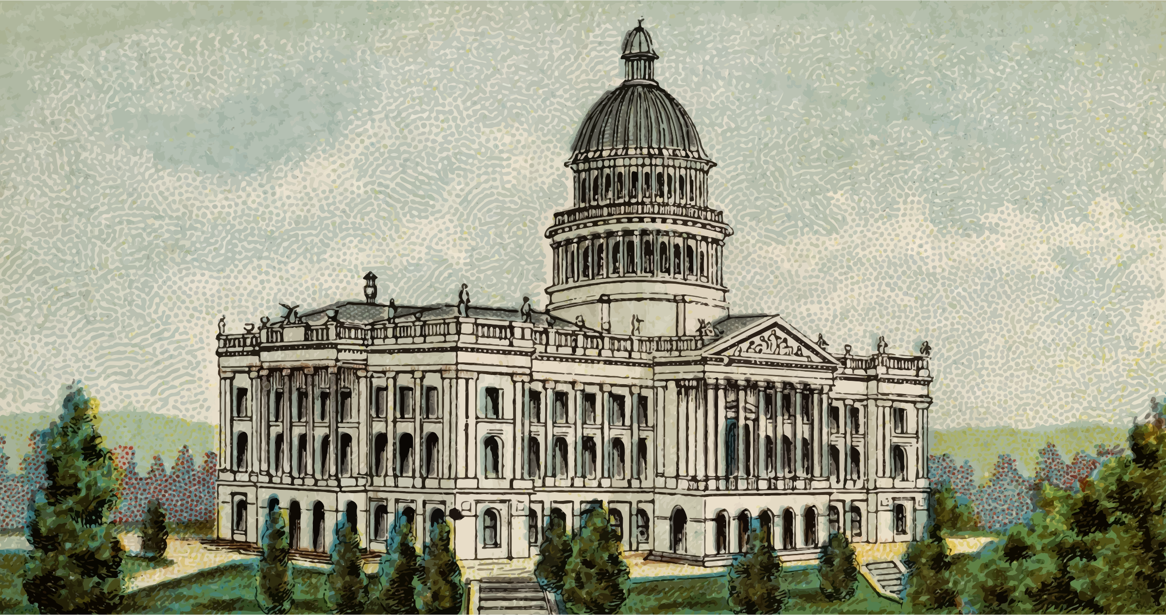 Cigarette Card - Capitol Building of California by Firkin