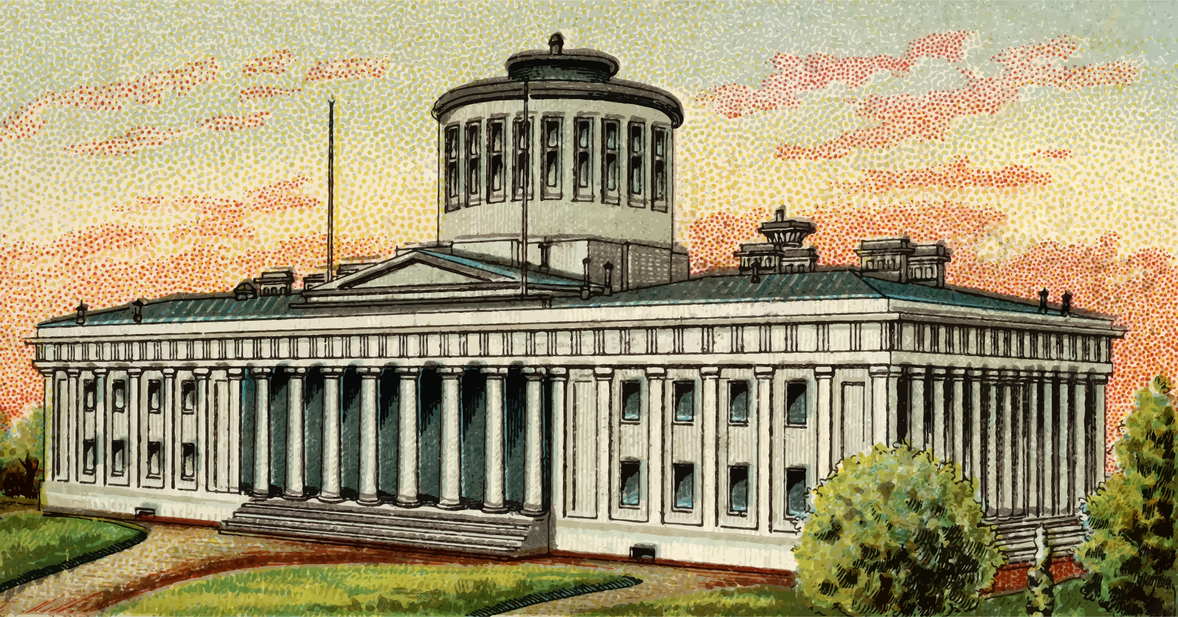 Cigarette Card - Capitol Building of Ohio by Firkin