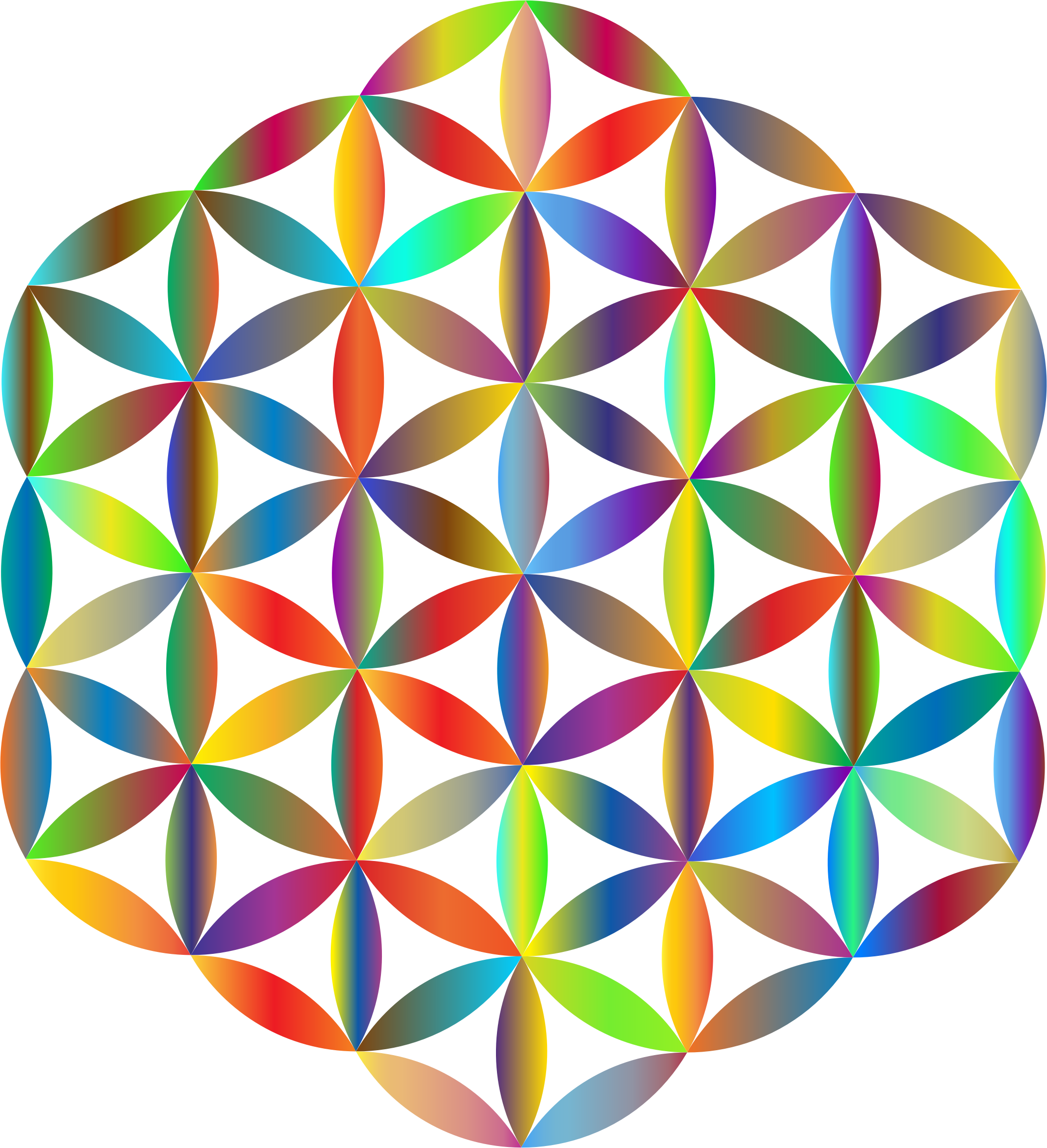 Prismatic Flower Of Life by GDJ