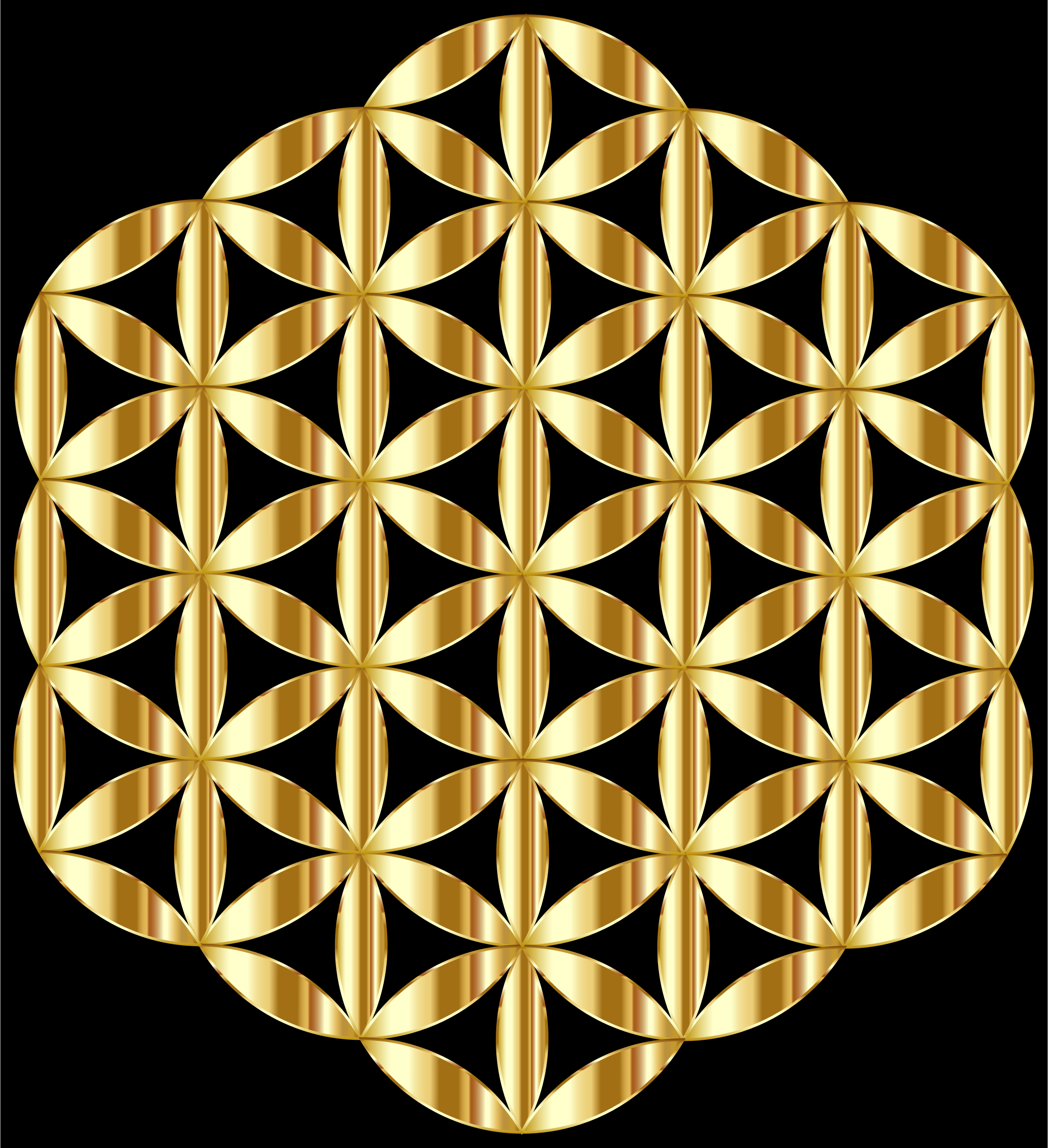 Gold Flower Of Life by GDJ