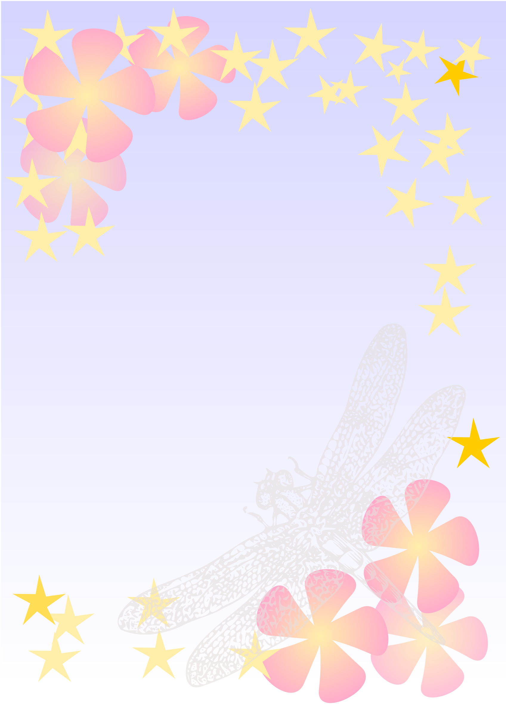 Dragonfly notepaper by kattekrab