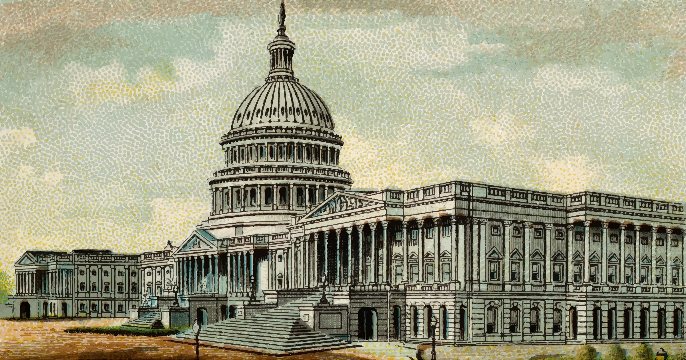 Cigarette Card - Capitol Building of United States by Firkin