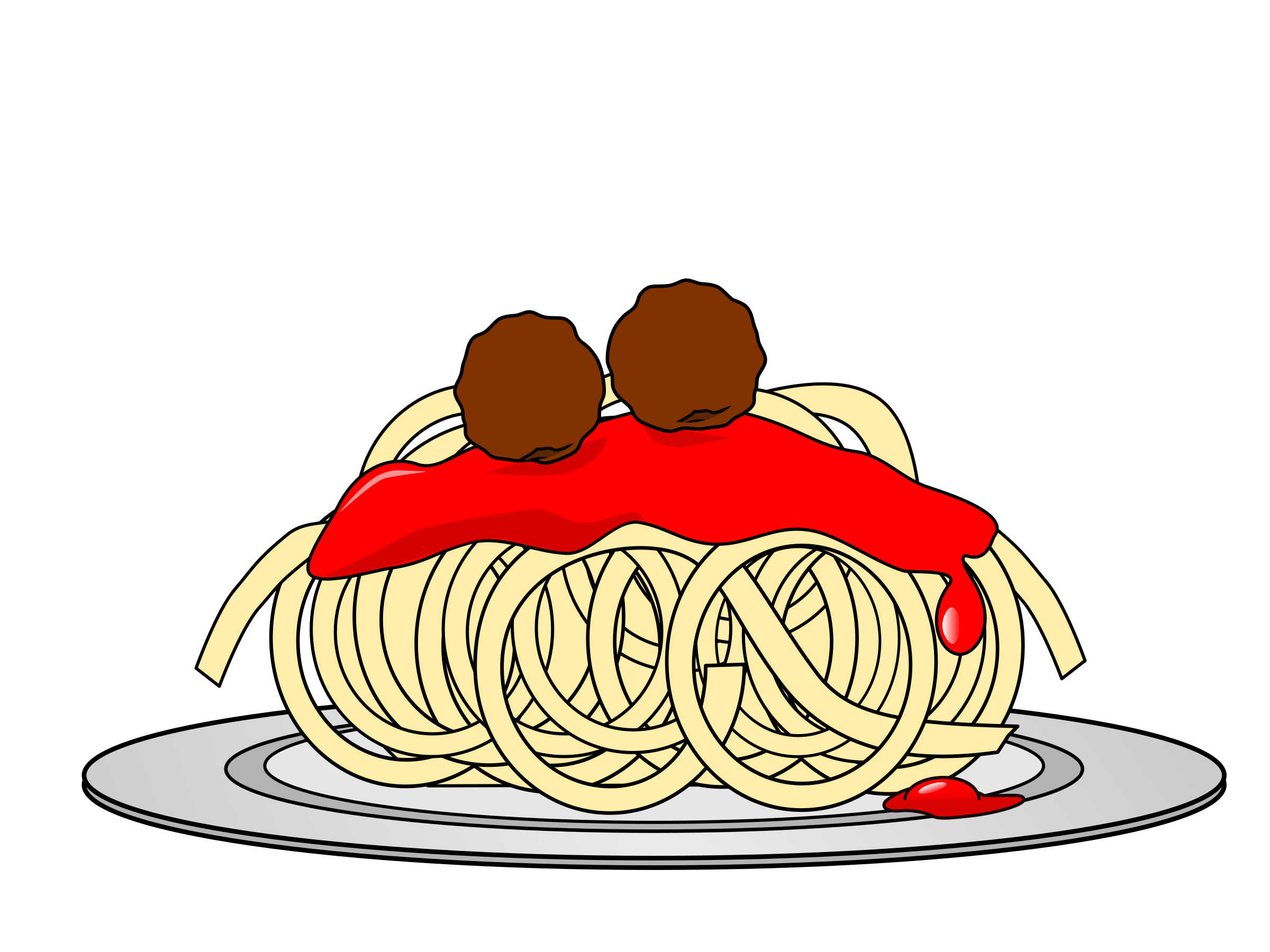Plate Of Spaghetti And Meatballs Clipart | www.imgkid.com ...