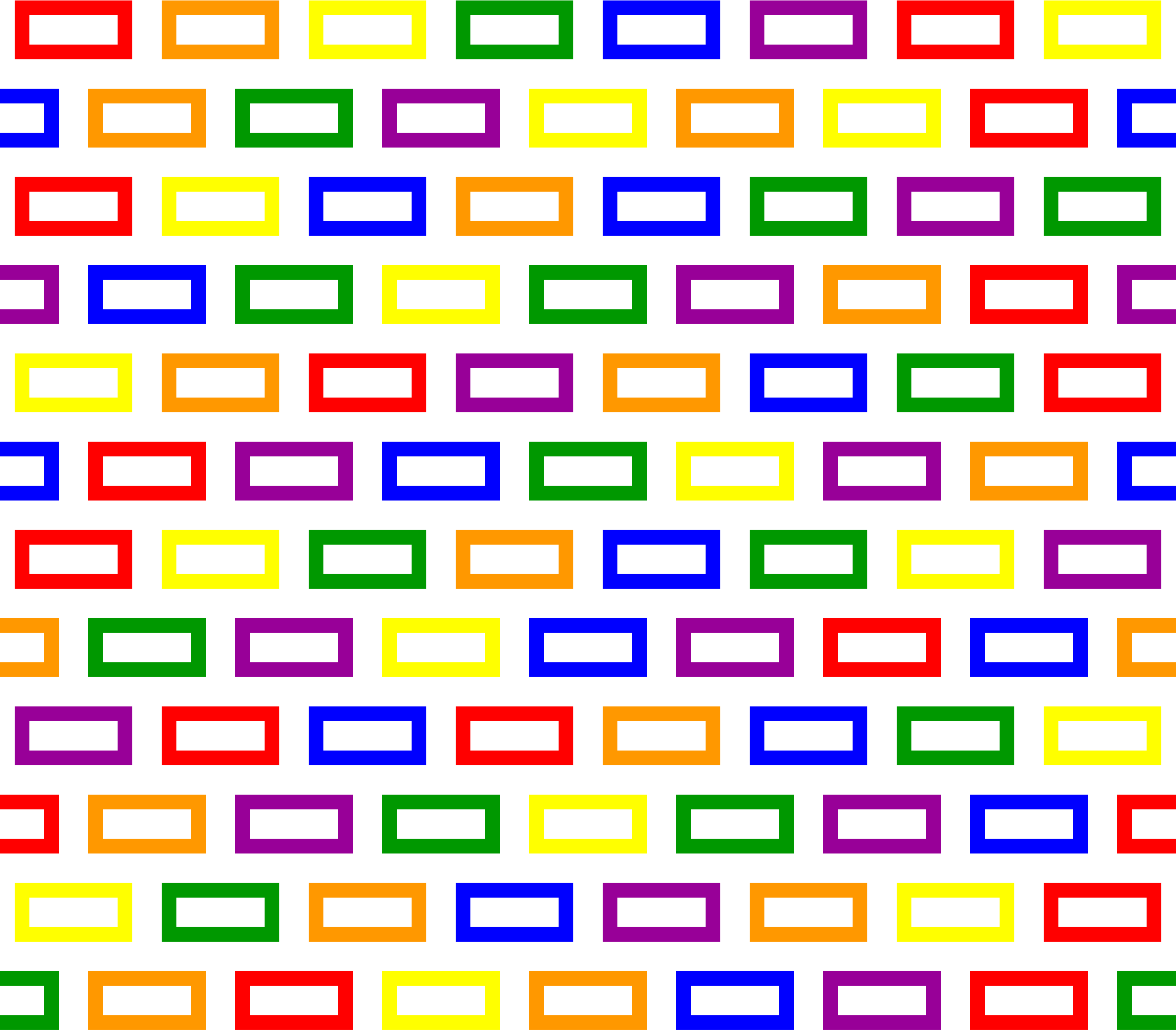 Colourful bricks pattern (no background) by Firkin